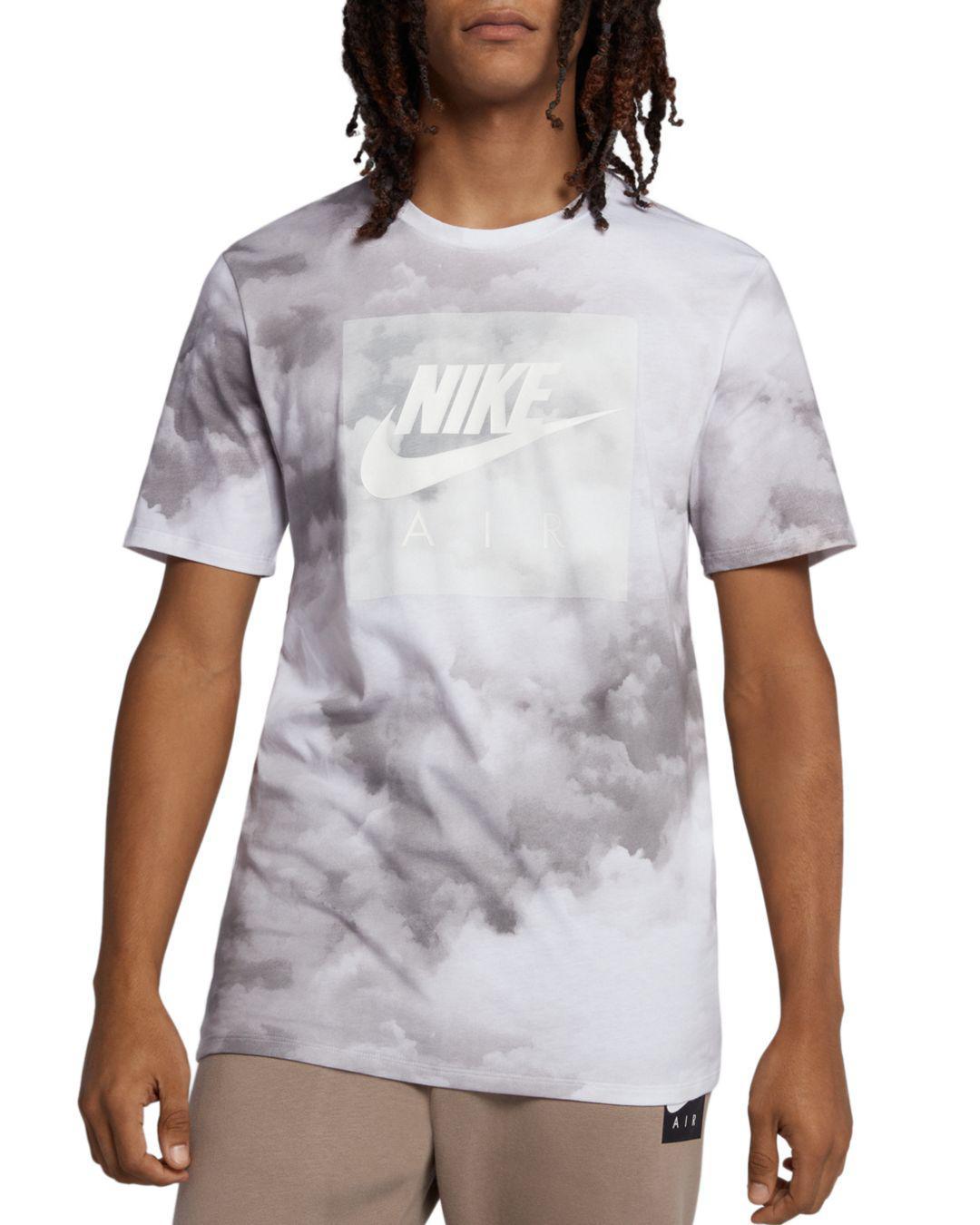 d38dafda3540 Lyst - Nike Cloud-print Air Logo Graphic Tee in White for Men