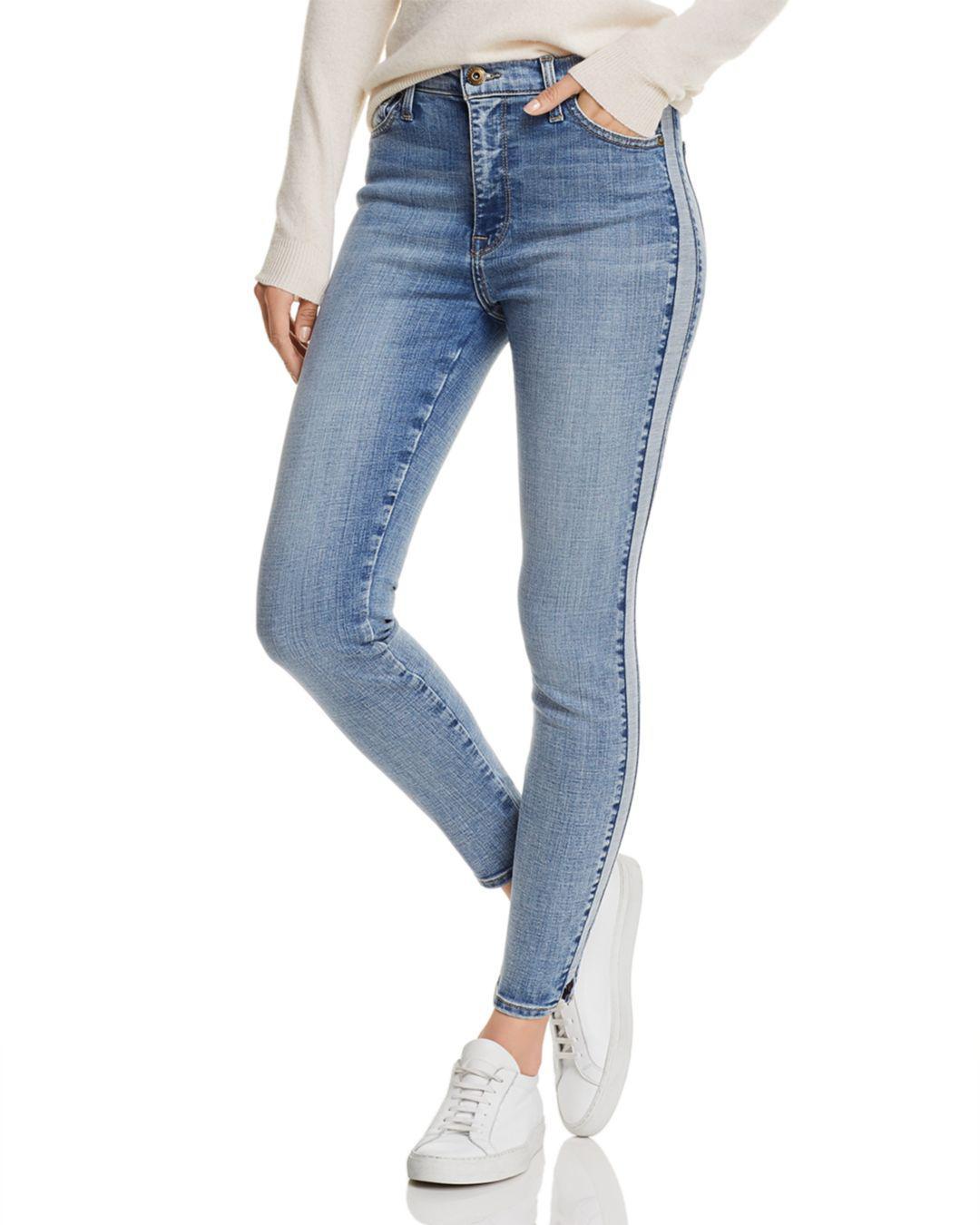 206f1c64b88 Lyst - Pistola High-rise Tuxedo Stripe Skinny Jeans In Vice Versa in ...