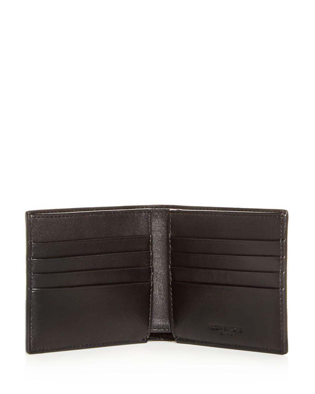 7ab2a8202ac1 Lyst - Michael Kors Harrison Crossgrain Leather Bi-fold Wallet in Black for  Men
