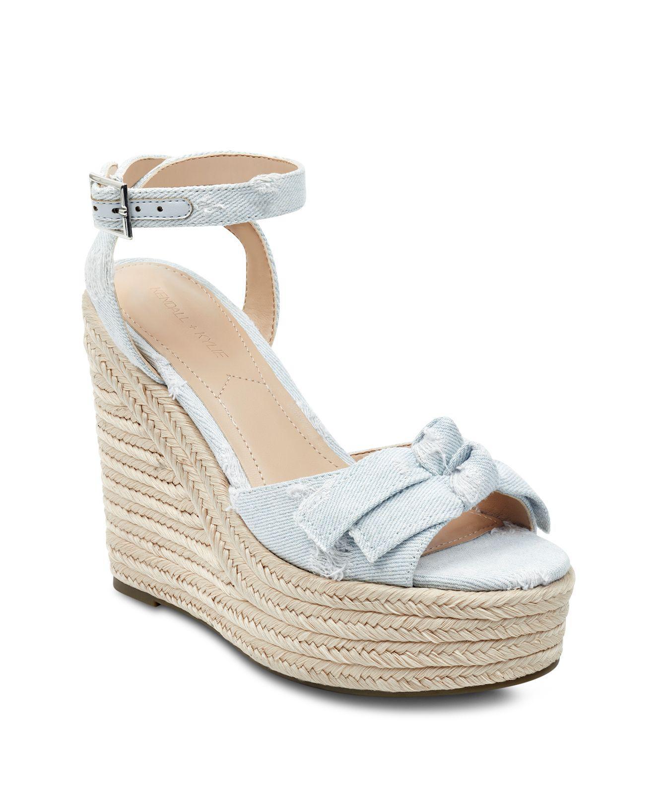 Kendall And Kylie Women's Gwenn2 Denim Espadrille Platform Wedge Sandals 7rAGgh