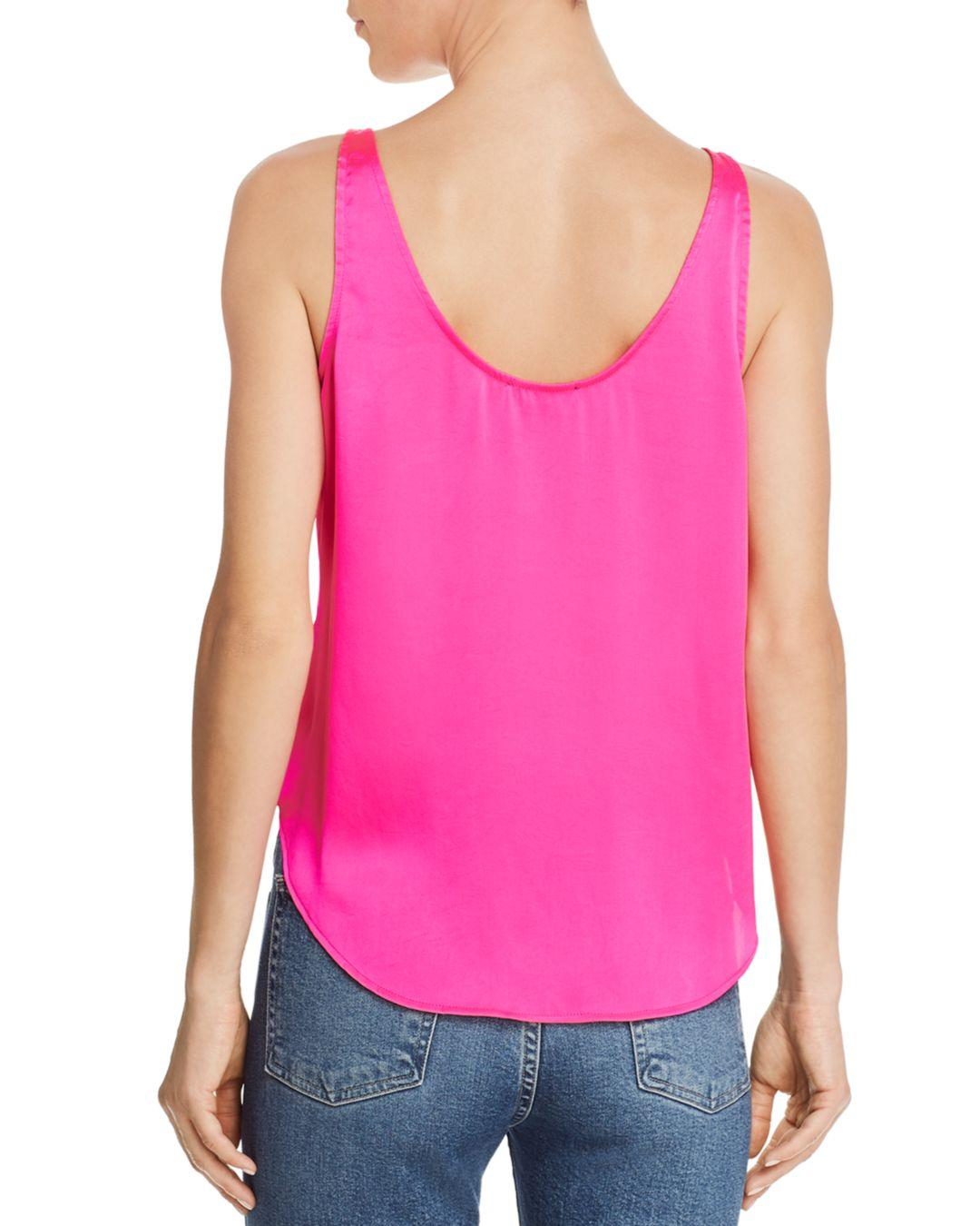 ed93f01d 7 For All Mankind Button-up Tank in Pink - Lyst