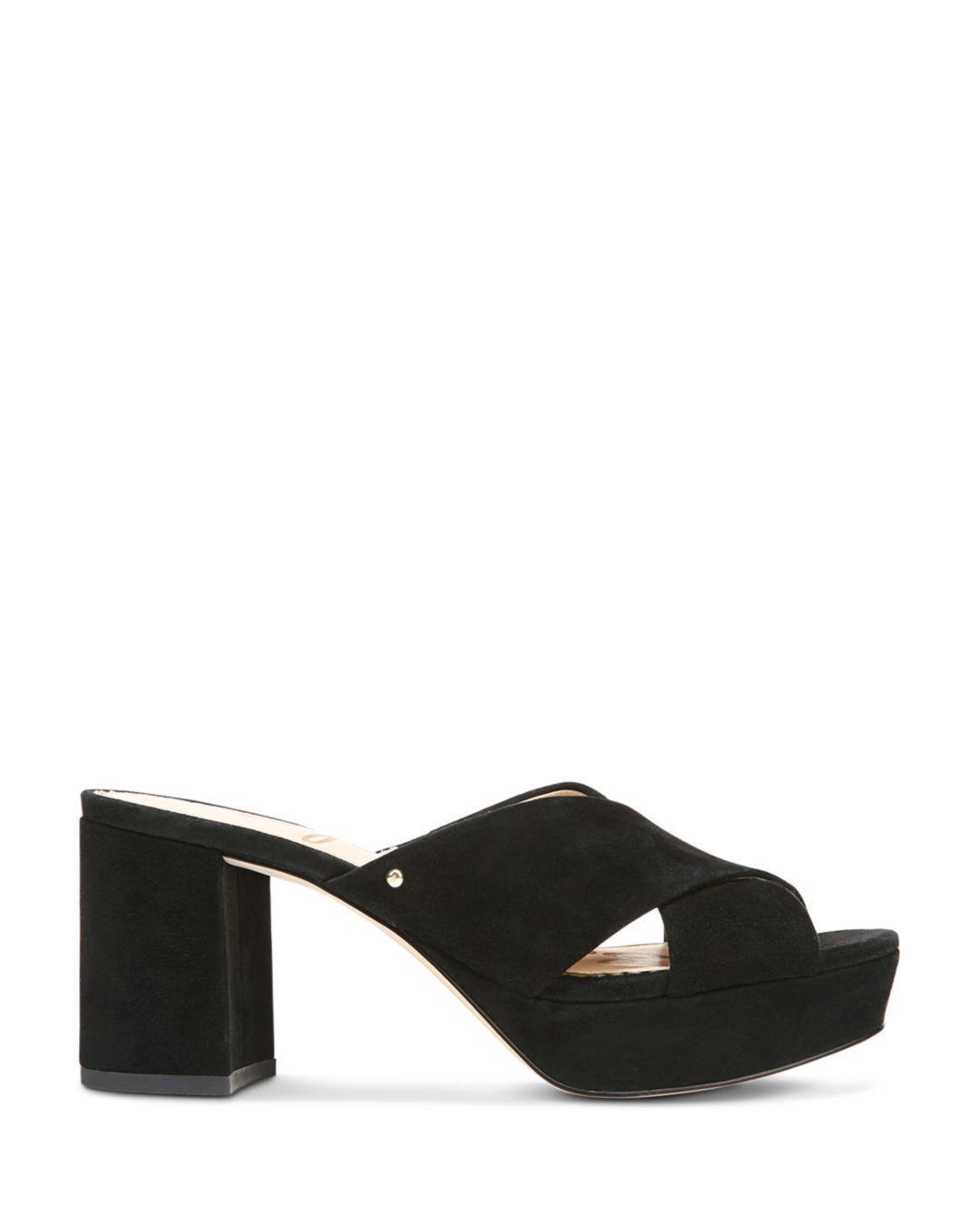 d6468d0b47c Lyst - Sam Edelman Women s Jayne Suede Platform High-heel Slide ...