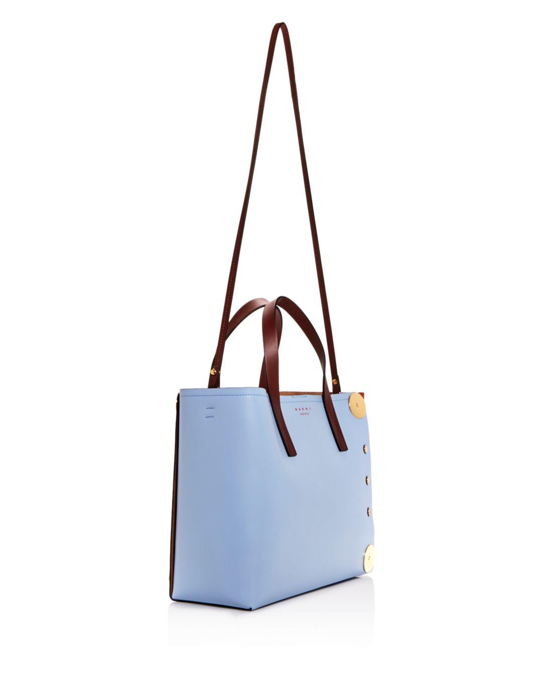 1396f380b823 Marni - Multicolor Punch Contrast Panel Leather Tote - Lyst. View fullscreen