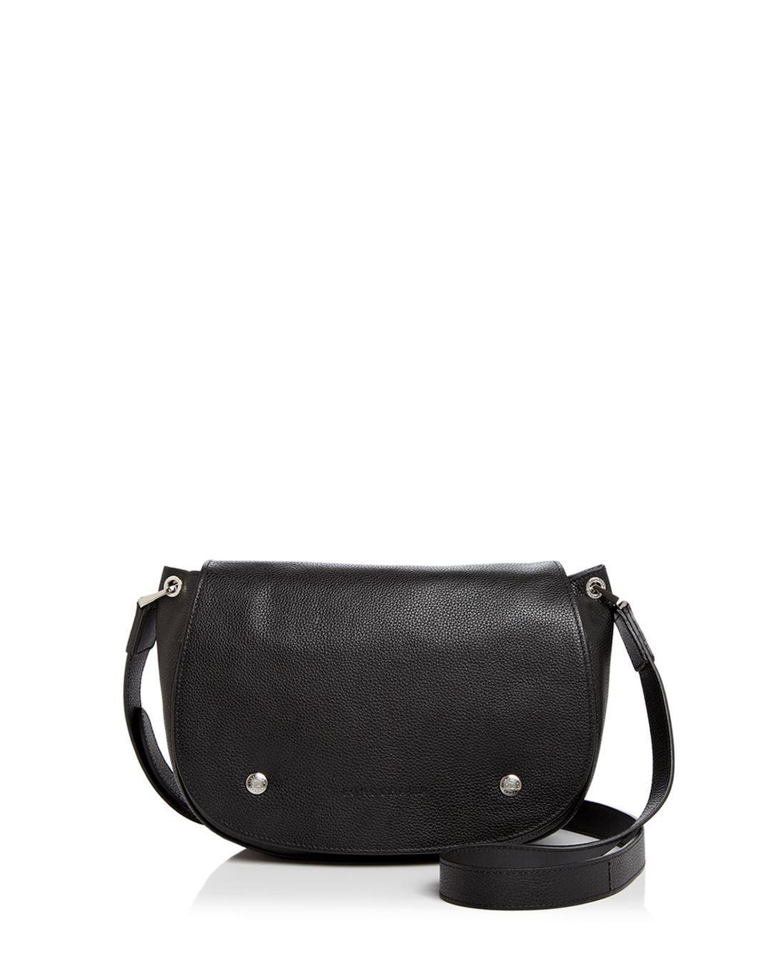 64641e0ed3c6 Lyst - Longchamp Le Foulonne Leather Saddle Bag in Black