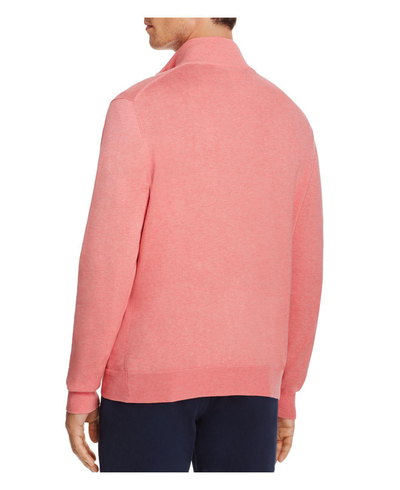 Vineyard vines Quarter-zip Sweater in Pink for Men | Lyst