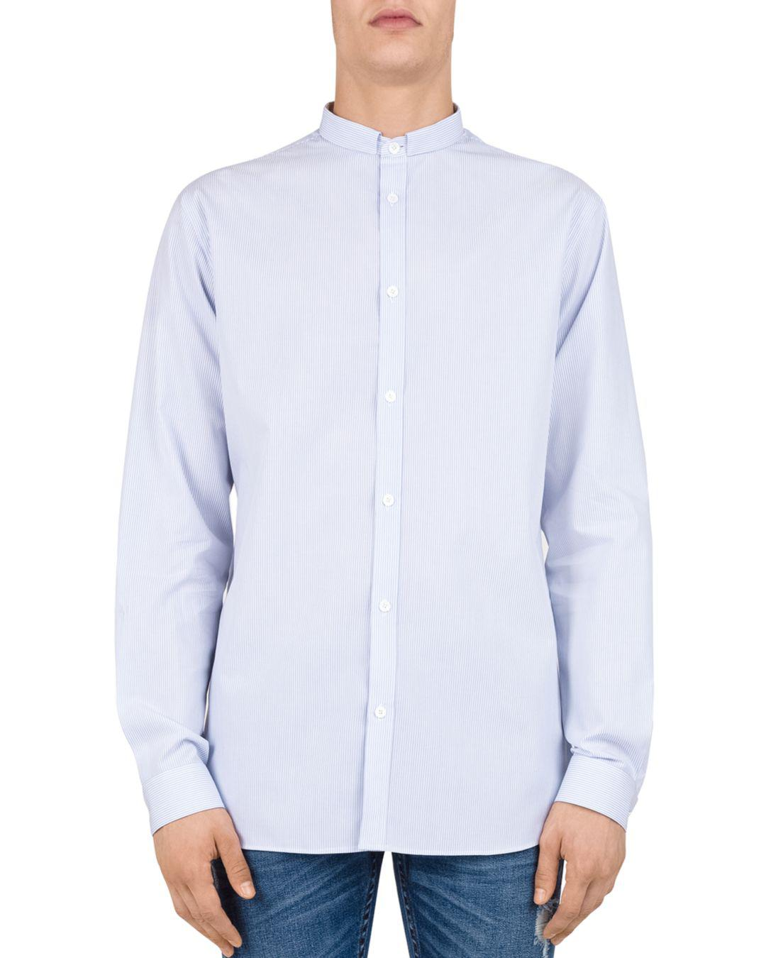 4c590ea02bc The Kooples Popeline Slim Fit Button-down Shirt in Blue for Men - Lyst