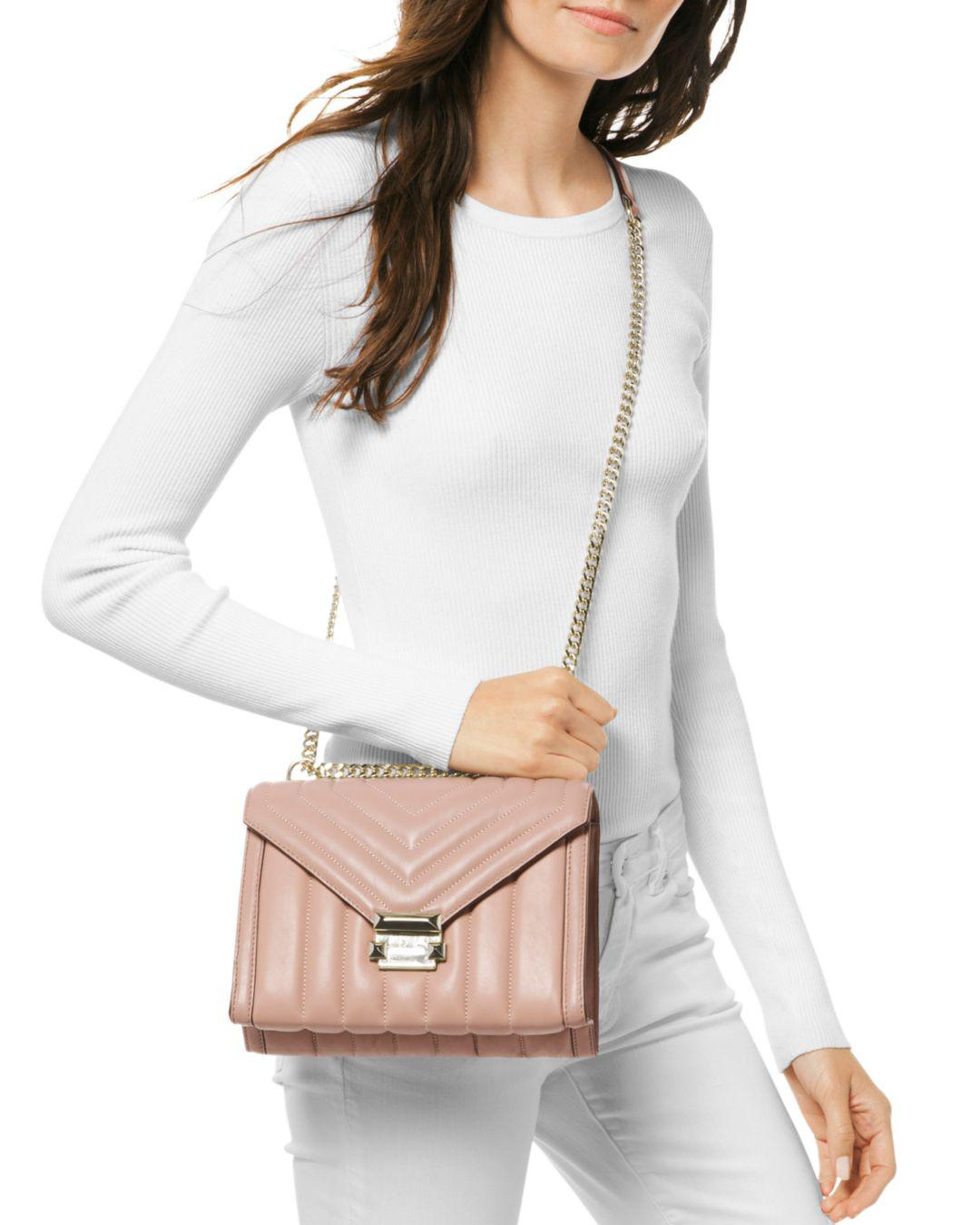 2939fdf4c933 Michael Kors Whitney Large Quilted Leather Convertible Shoulder Bag - Save  50% - Lyst