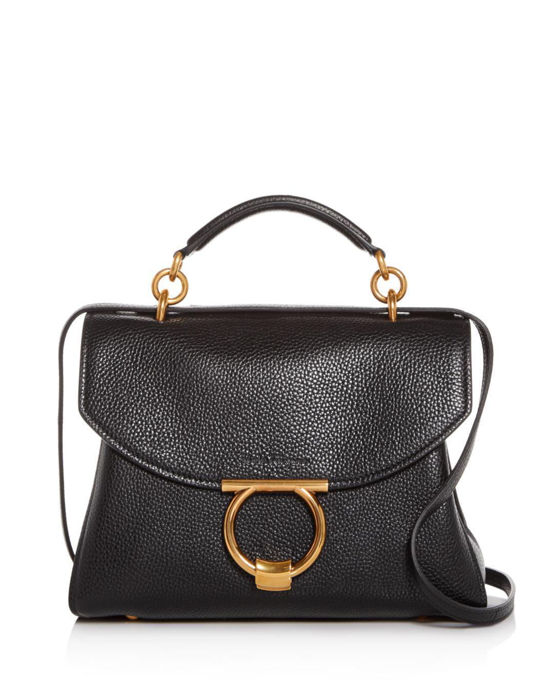 f0e929b9bd5e Lyst - Ferragamo Margot Small Leather Satchel in Black - Save 20%
