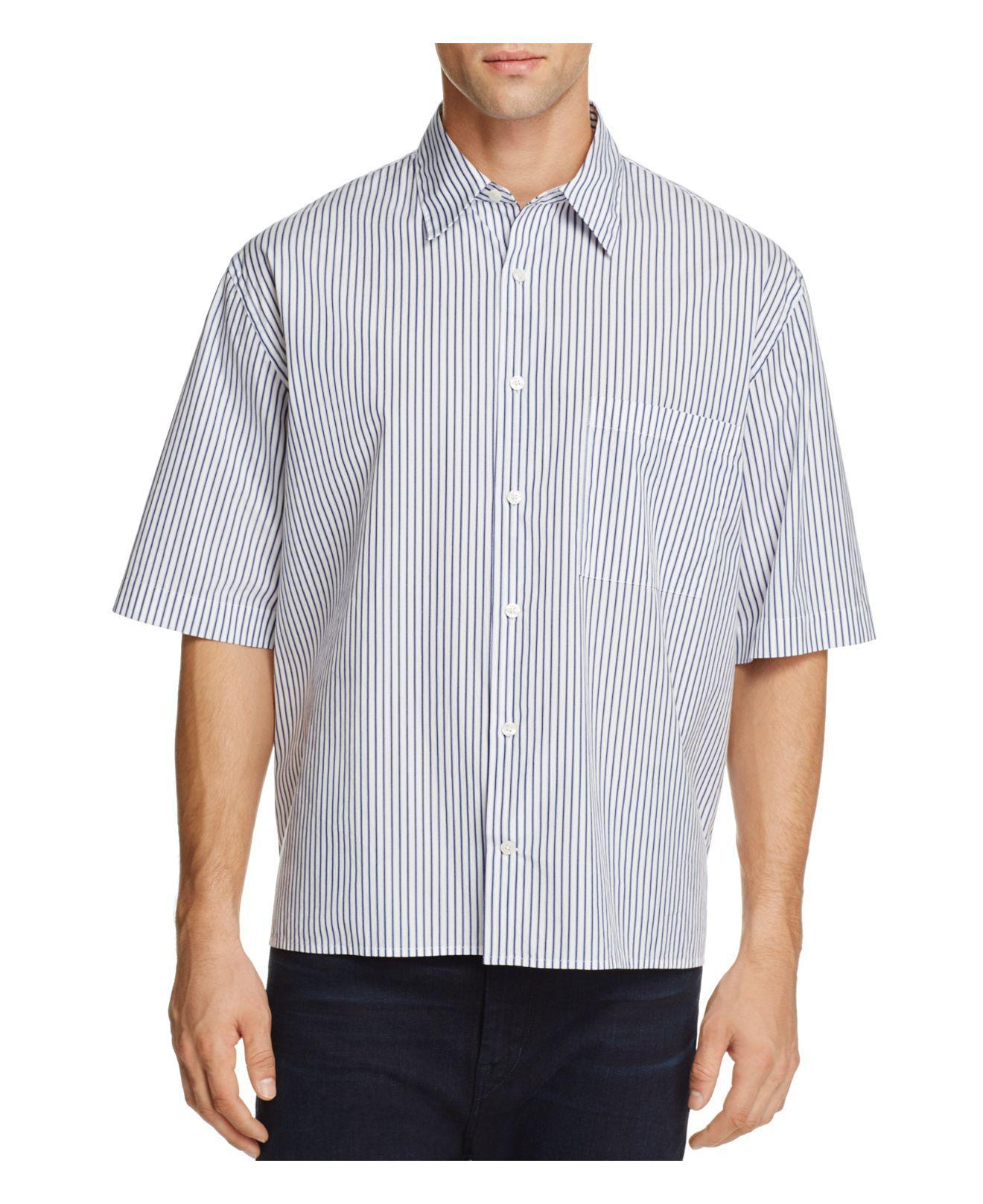 Visit New Sale Online Boxy Pinstripe Button-Front Shirt Vince Footlocker Pictures Cheap Price Sale Perfect Cheap Sale Official Site Buy Cheap 2018 8CU2Gr0U