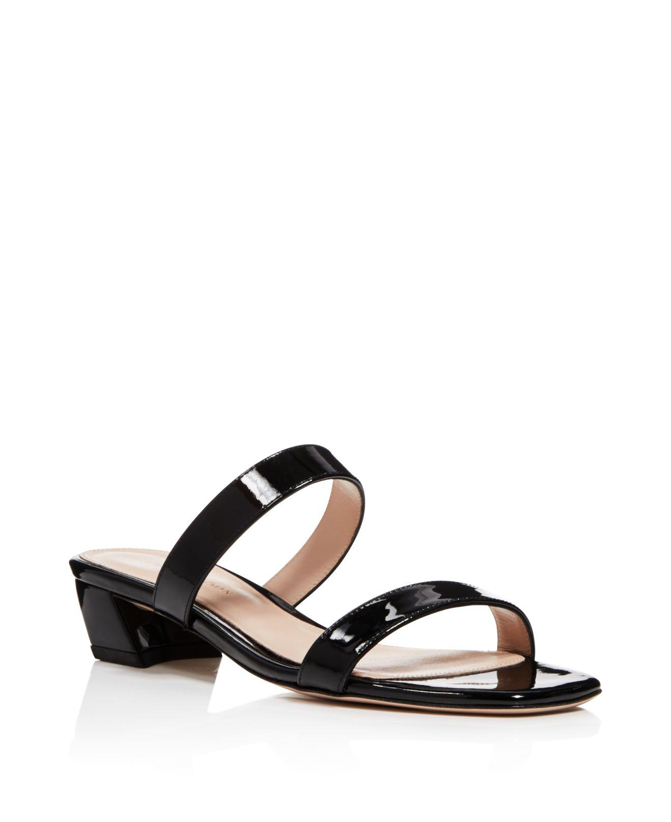 discount brand new unisex Stuart Weitzman Patent leather Slide Sandals low cost online cheap new arrival cheap outlet store Y4dTm6Zmj