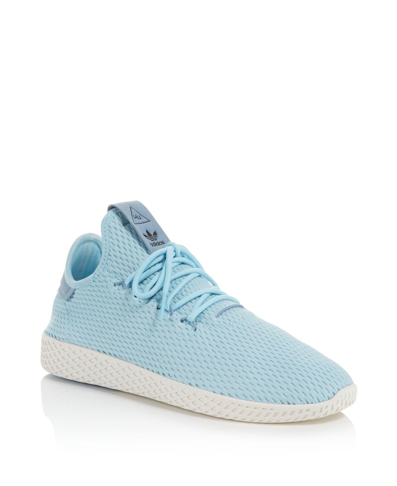 643e8086f adidas X Pharrell Williams Men s Human Race Trainer Sneakers in Blue ...