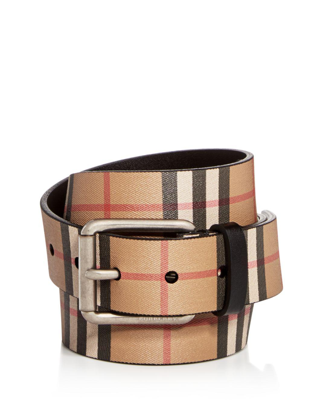 ea7570994af66 ... shop burberry. mens black mark vintage check leather belt de628 7be01