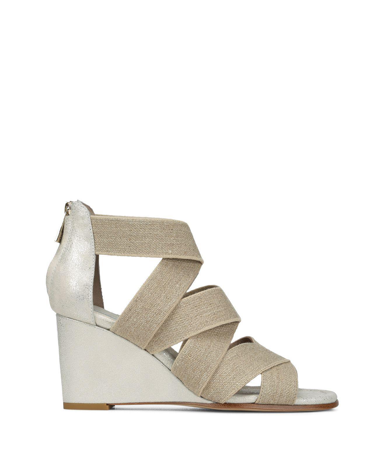 Donald Pliner Women's Lelle-Le Elasticized Cross-Strap Wedge Sandals tHEyMtq