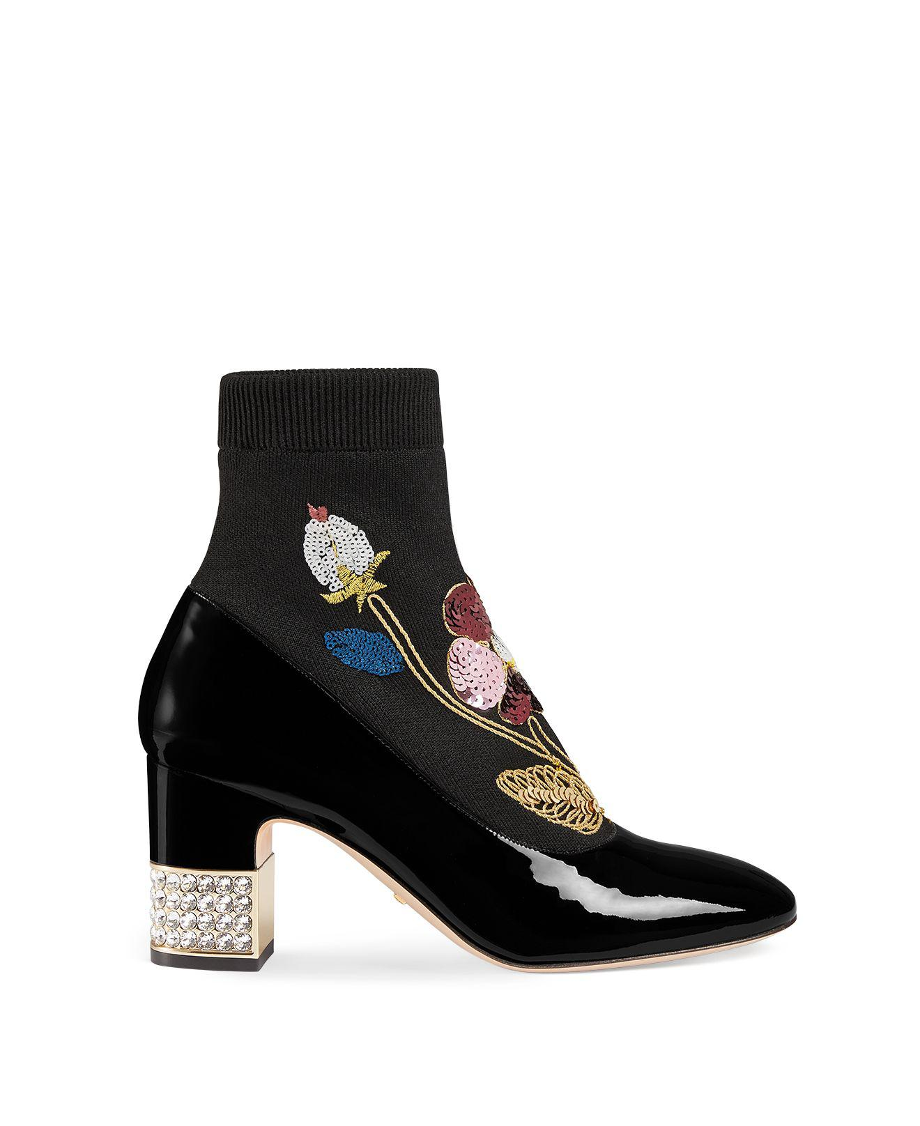 d0b8c2e63 Lyst - Gucci Women's Candy Embroidered Knit & Patent Leather ...