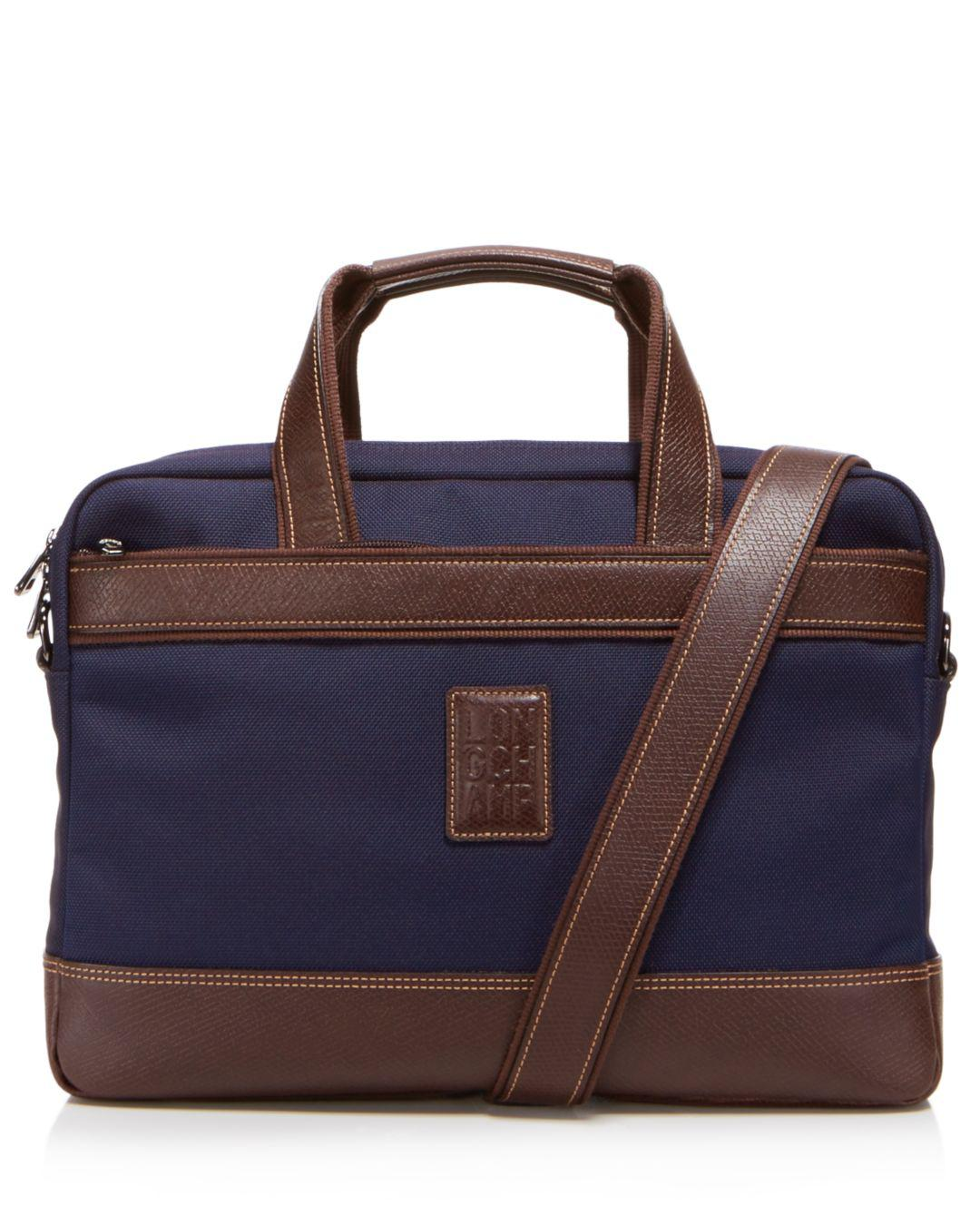 86a71cc7dc72 Lyst - Longchamp Boxford Slim Briefcase in Blue for Men