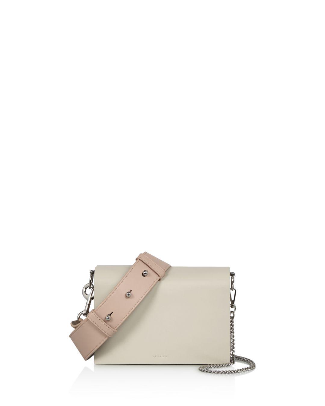 4a0f0150be11 AllSaints. Women s Zep Leather Shoulder Bag