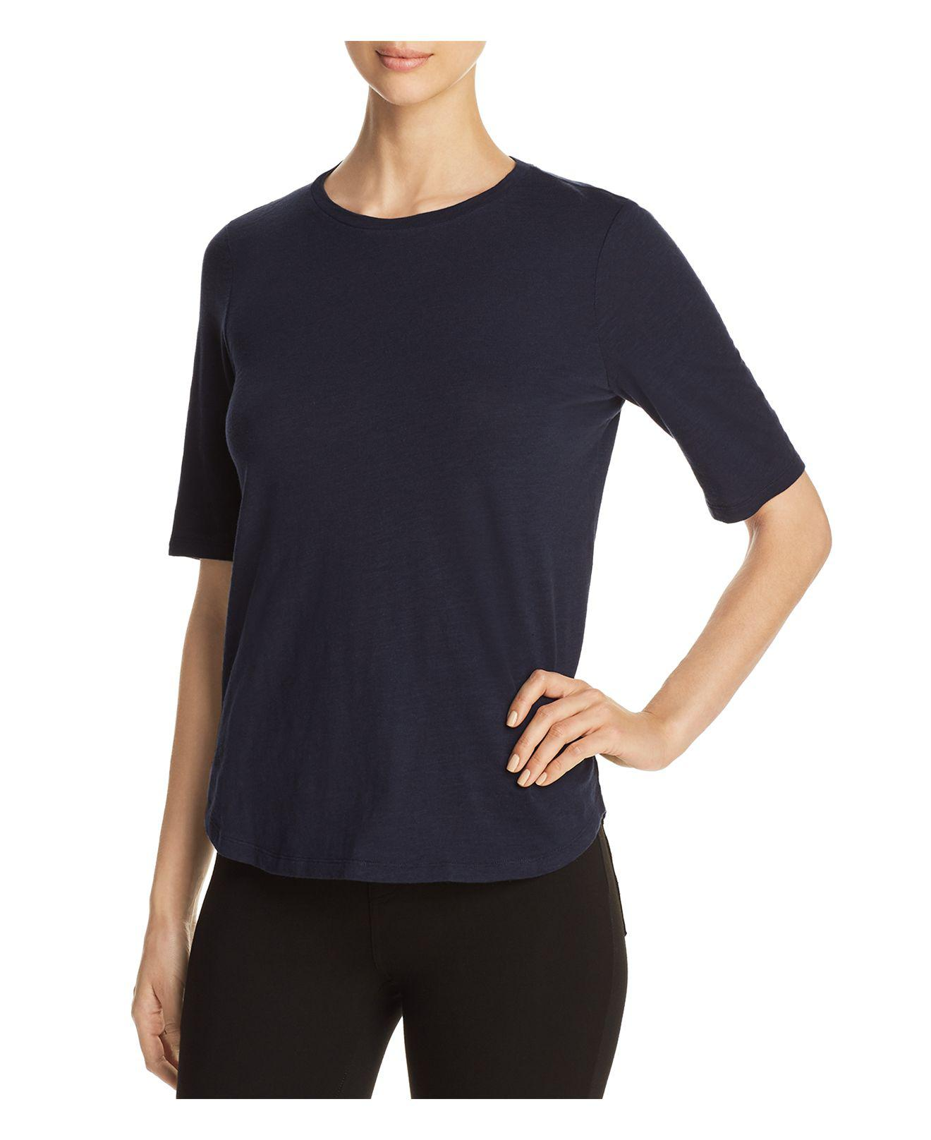 Lyst eileen fisher organic cotton tee in blue for Eileen fisher organic cotton t shirt