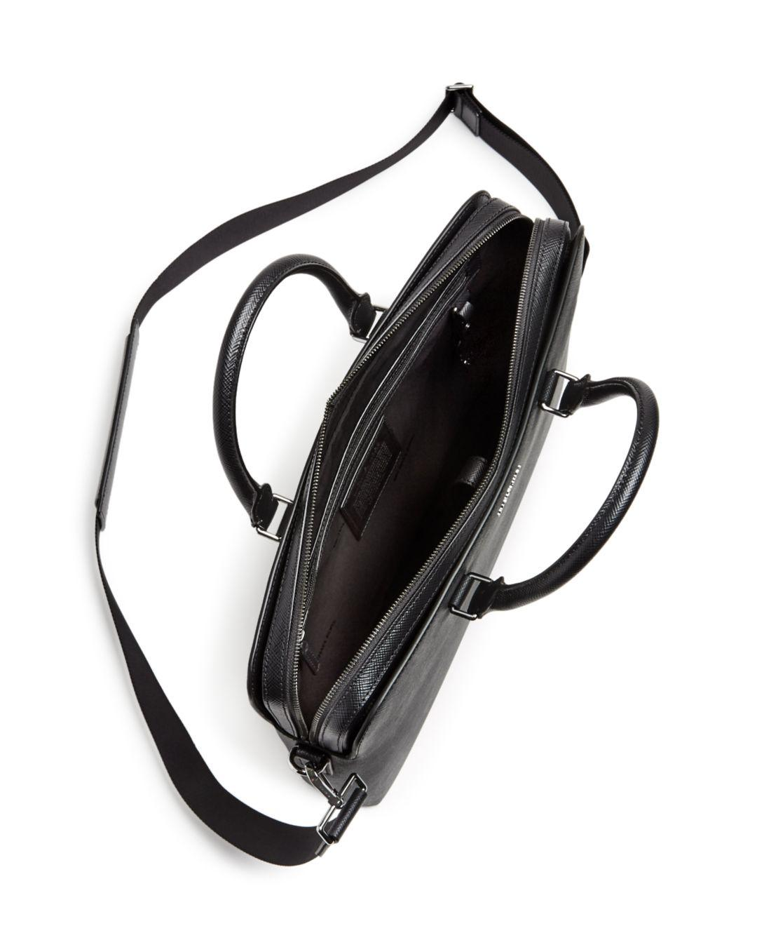 4fbdaad2b8ea Lyst - Michael Kors Harrison Crossgrain Leather Briefcase in Black for Men