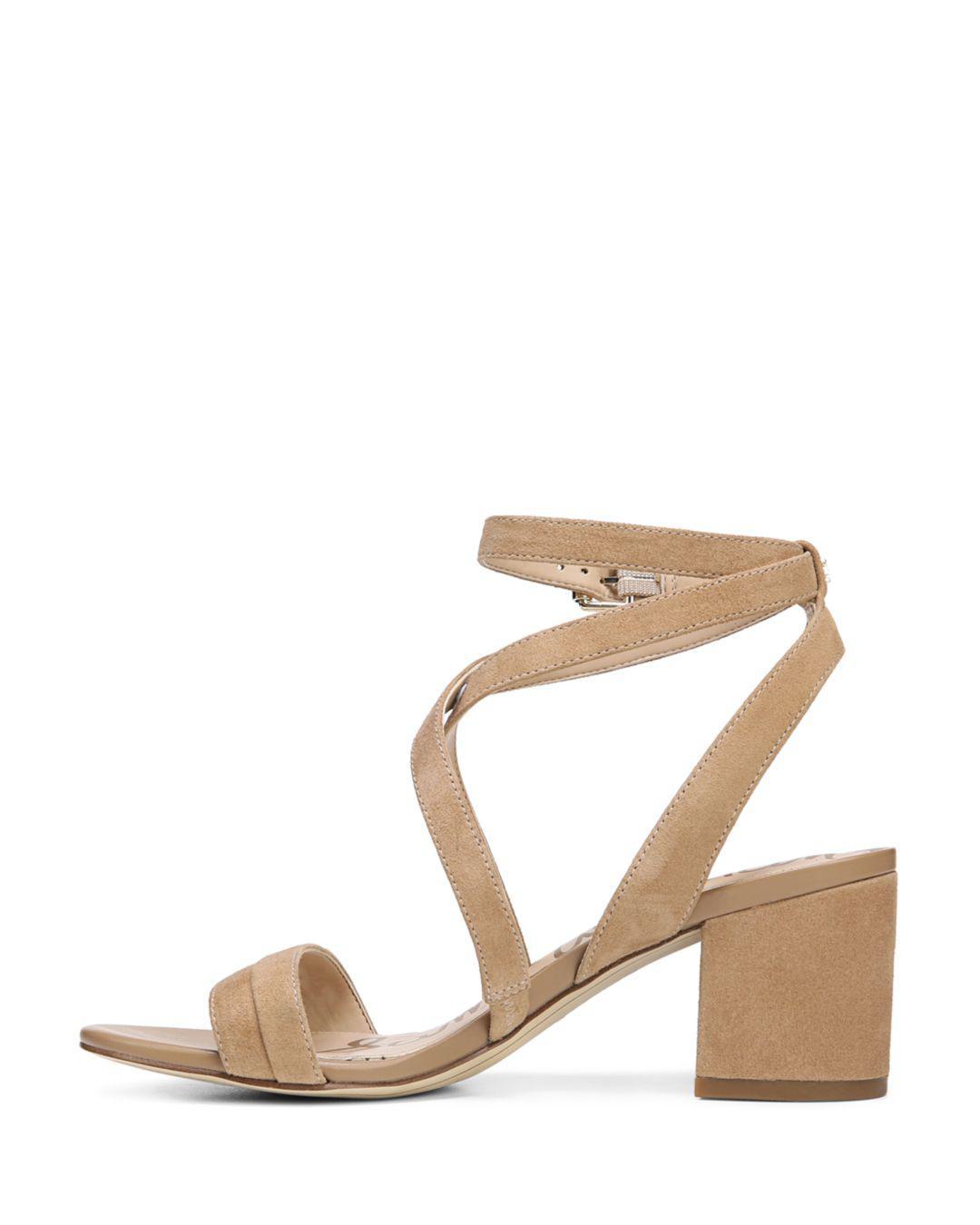 fdbb15d961e Lyst - Sam Edelman Women s Sammy Suede Strappy Block Heel Sandals in ...