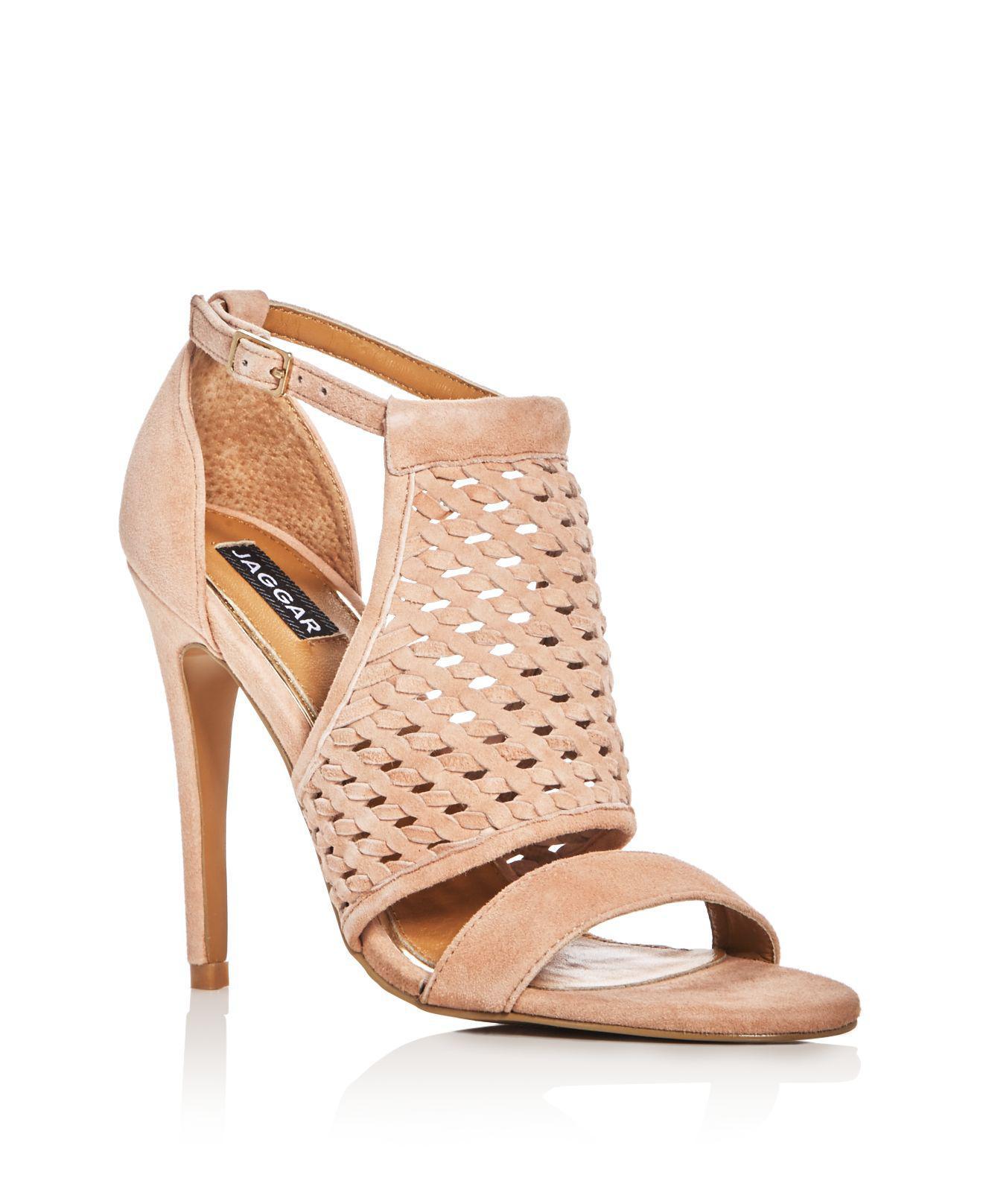 JAGGAR Open Weave High Heel Sandals Nude Women