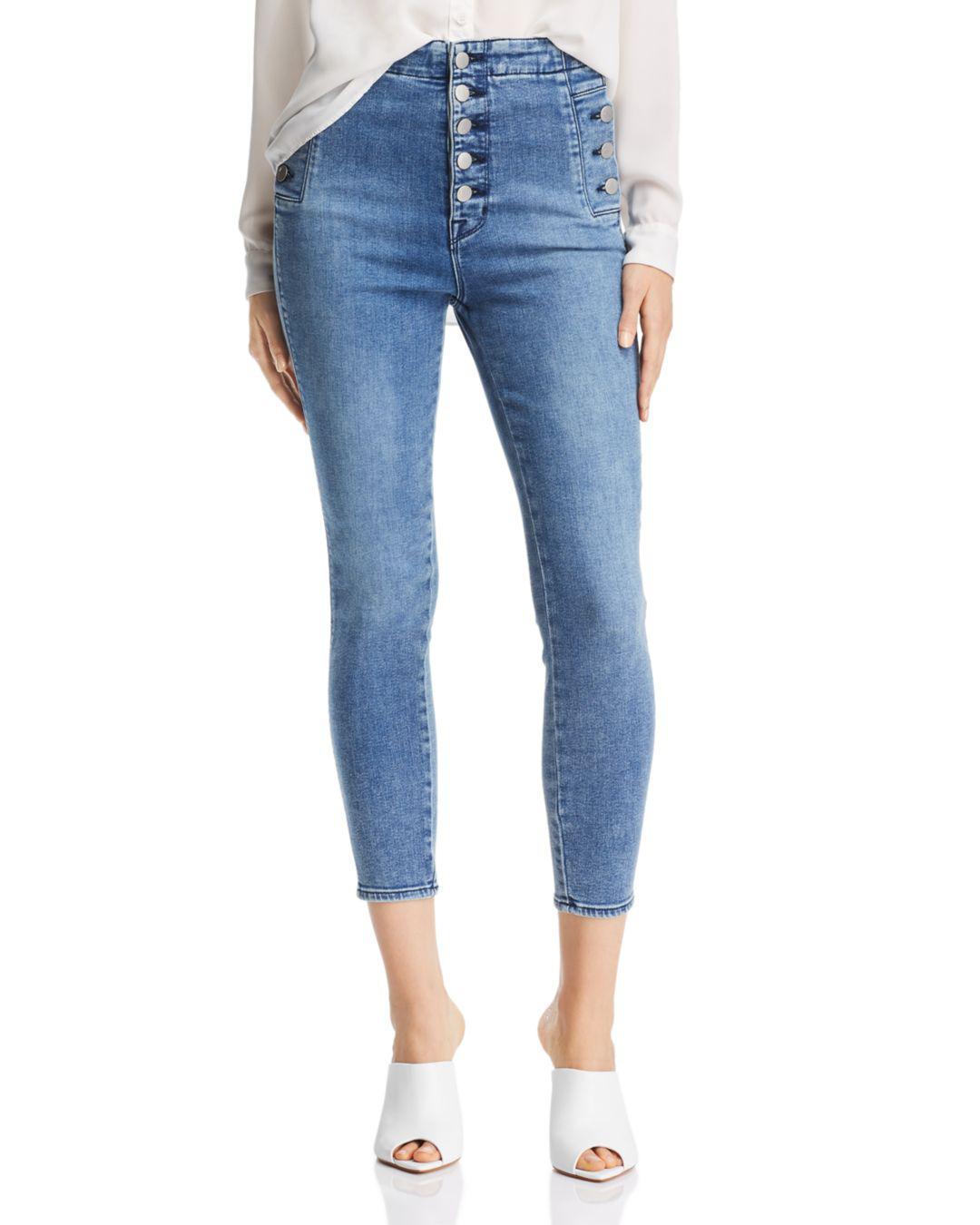 dca2cf54930 Lyst - J Brand Natasha Sky High Crop Skinny Jeans In Meteor in Blue