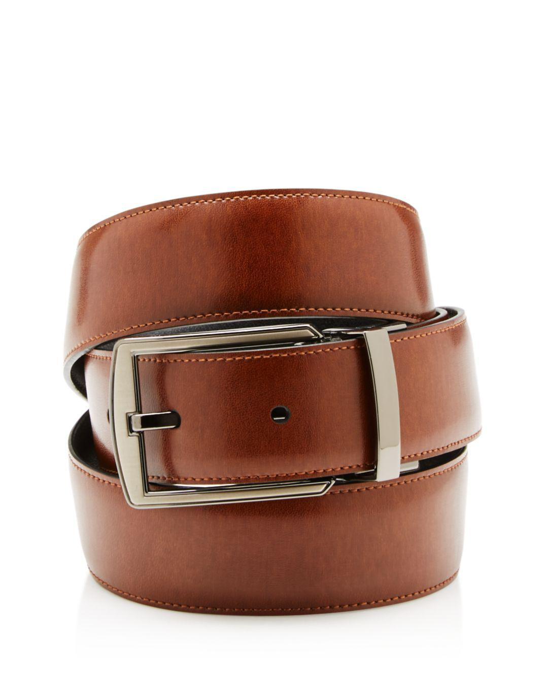 4e8845514cf Lyst - Bloomingdale s The Men s Store Hi-lo Reversible Belt in Brown for Men