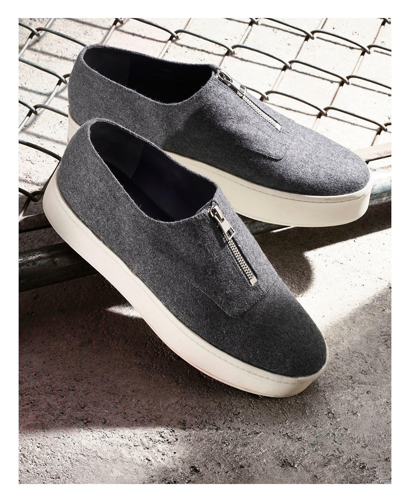 772a5b8086a Lyst - Vince Warner Flannel Platform Sneakers in Gray