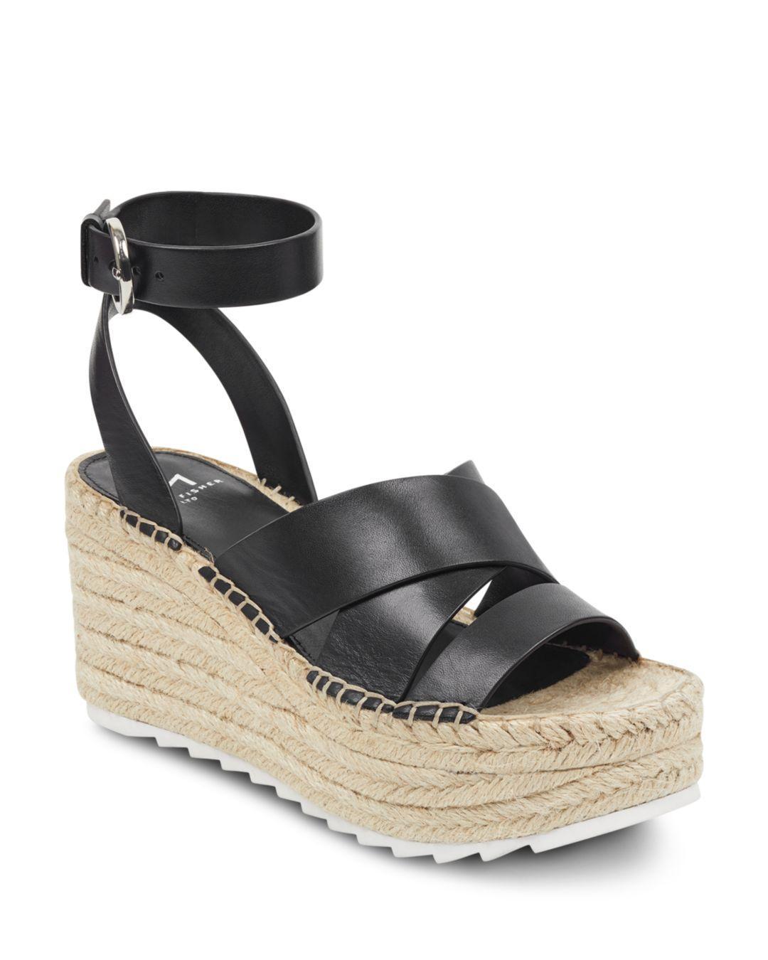 bae68c71971e Lyst - Marc Fisher Women s Raffa Espadrille Platform Wedge Sandals ...