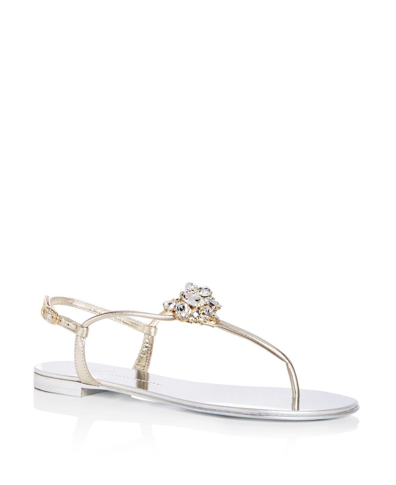 Giuseppe Zanotti Women's Nuvorock Swarovski Crystal Embellished Slide Sandals gr9qvYwOP