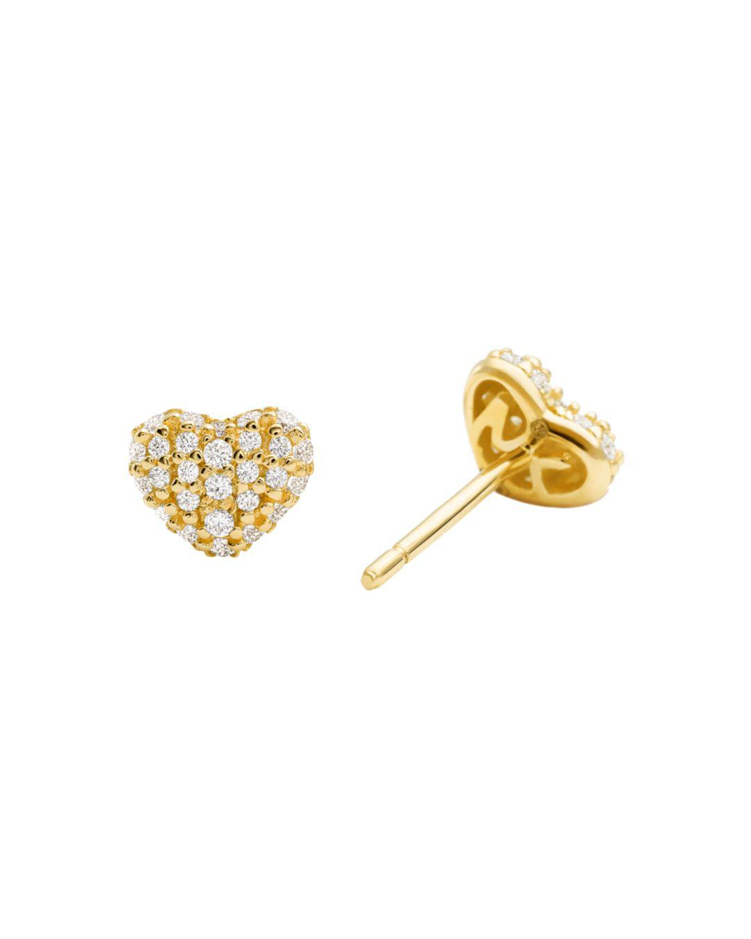5819e54c8 Lyst - Michael Kors Gold-toned Cubic Zirconia Stud Earrings in Metallic -  Save 3%