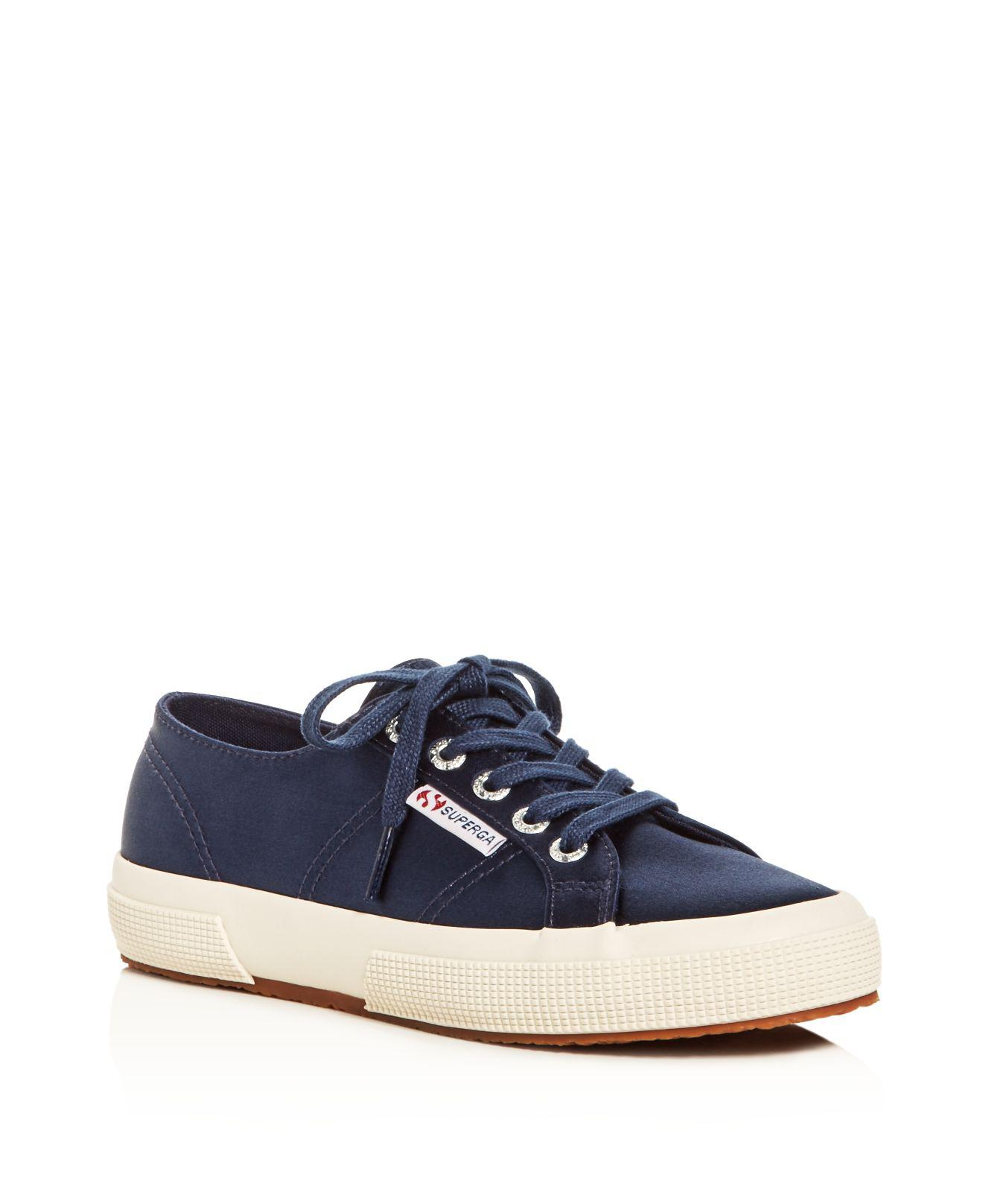 Superga Classic Satin Lace Up Sneakers oMIs6Mblyb