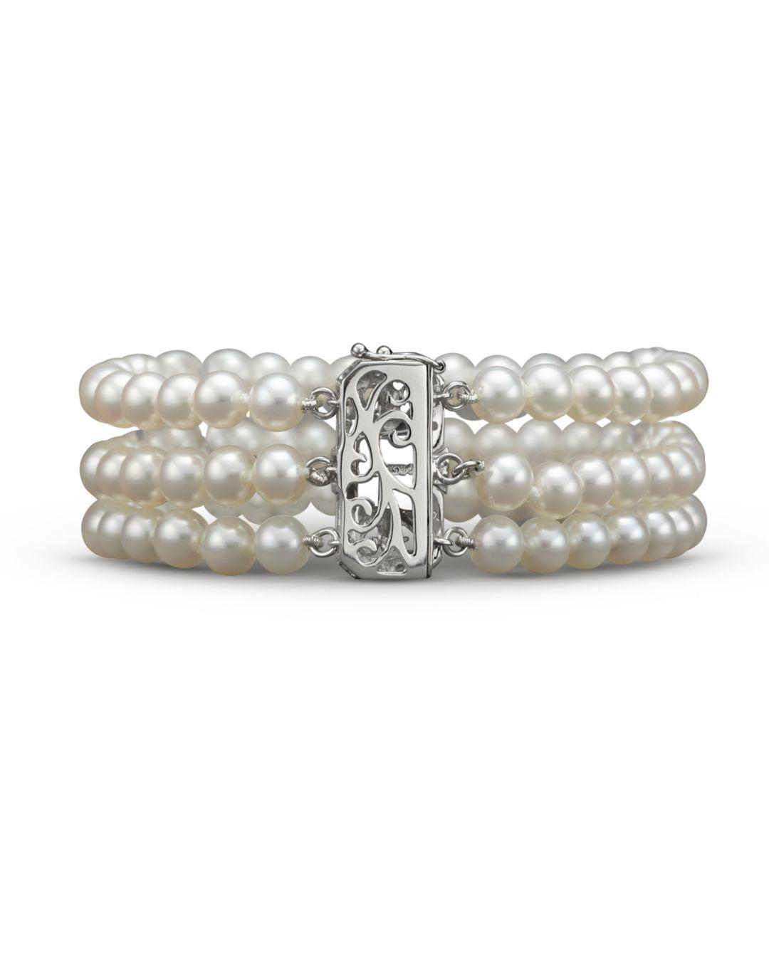 9b03f9d601937 Lyst - Bloomingdale's Cultured Freshwater Pearl Bracelet With ...