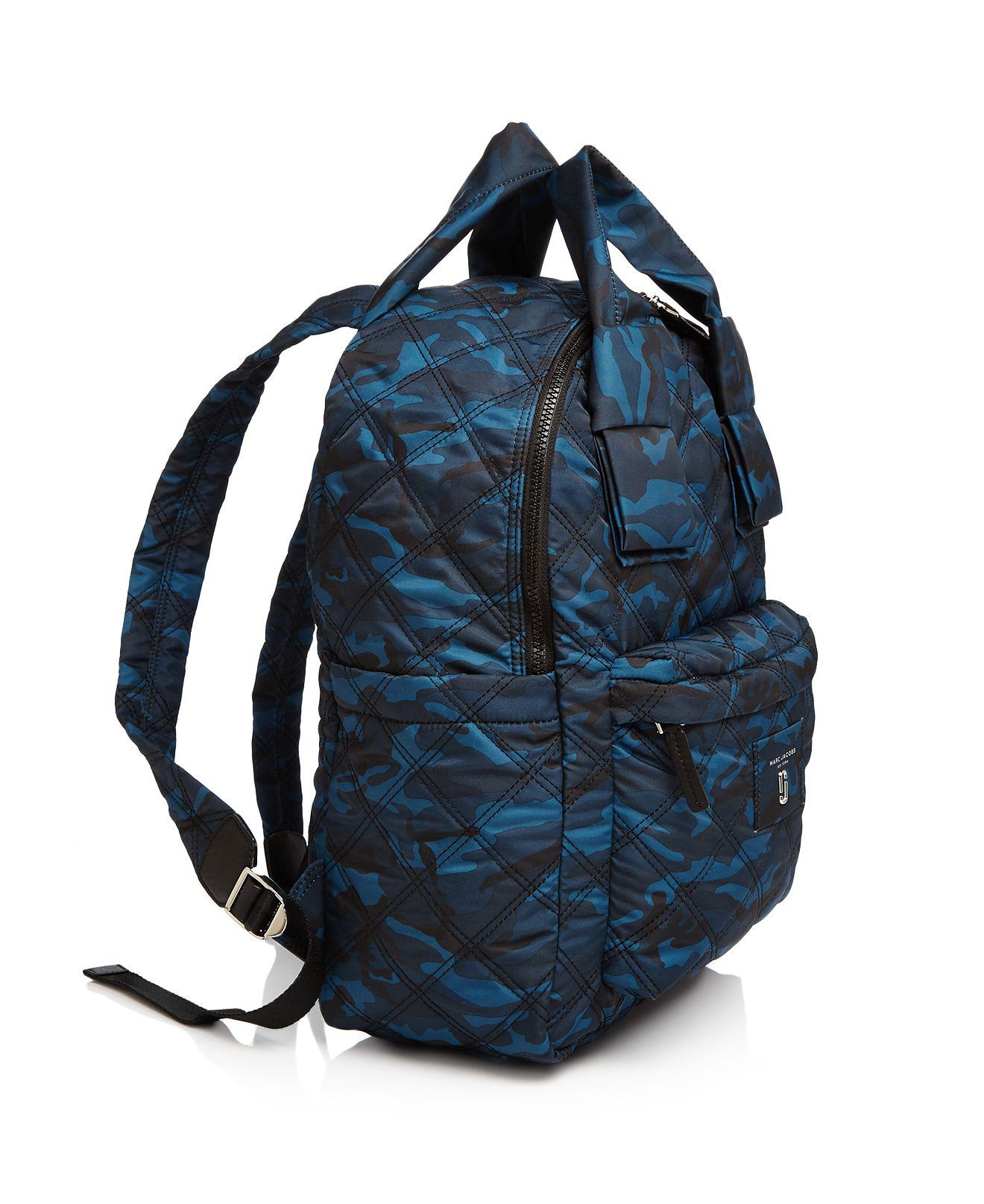 ebdbe0491a25 Lyst - Marc Jacobs Knot Camo Print Large Nylon Backpack in Blue