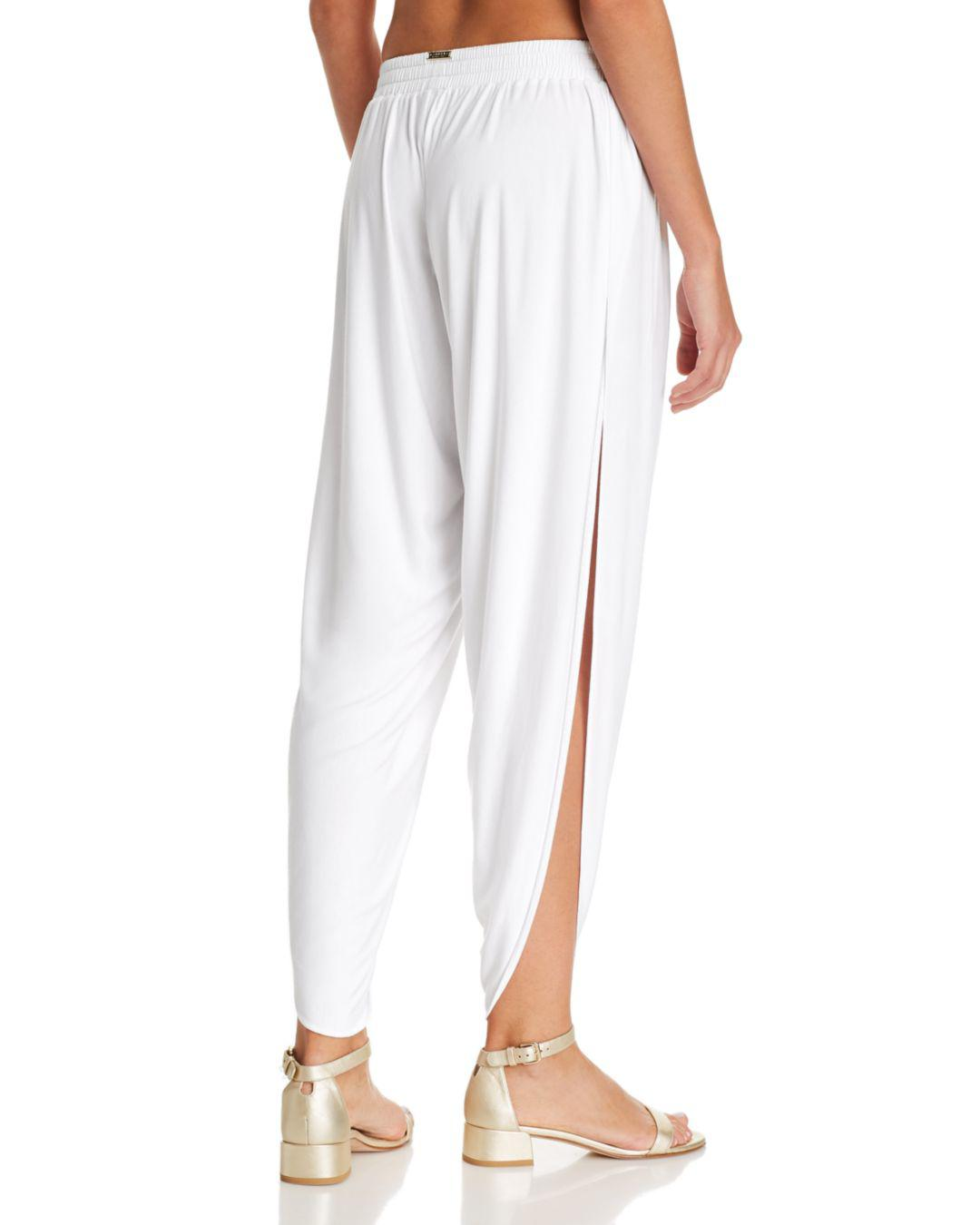 a0b89798670 Lyst - Laundry by Shelli Segal Solid Draped Swim Cover-up Pants in White