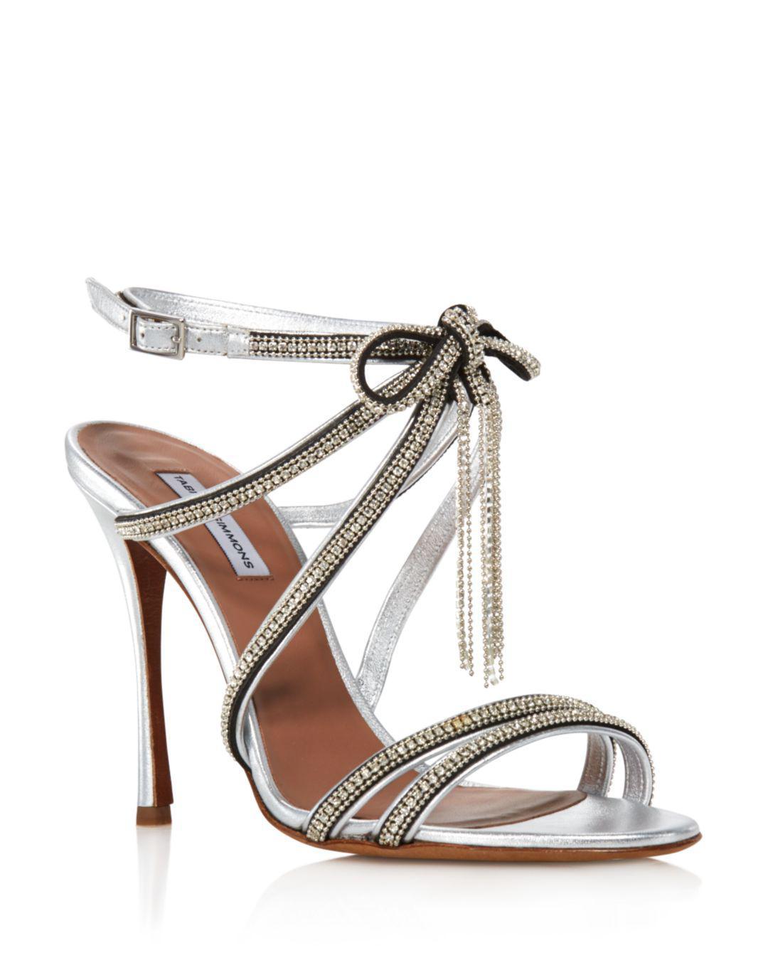 3c62db0c0830 Tabitha Simmons. Metallic Women s Iceley Rhinestone Bow High-heel Sandals