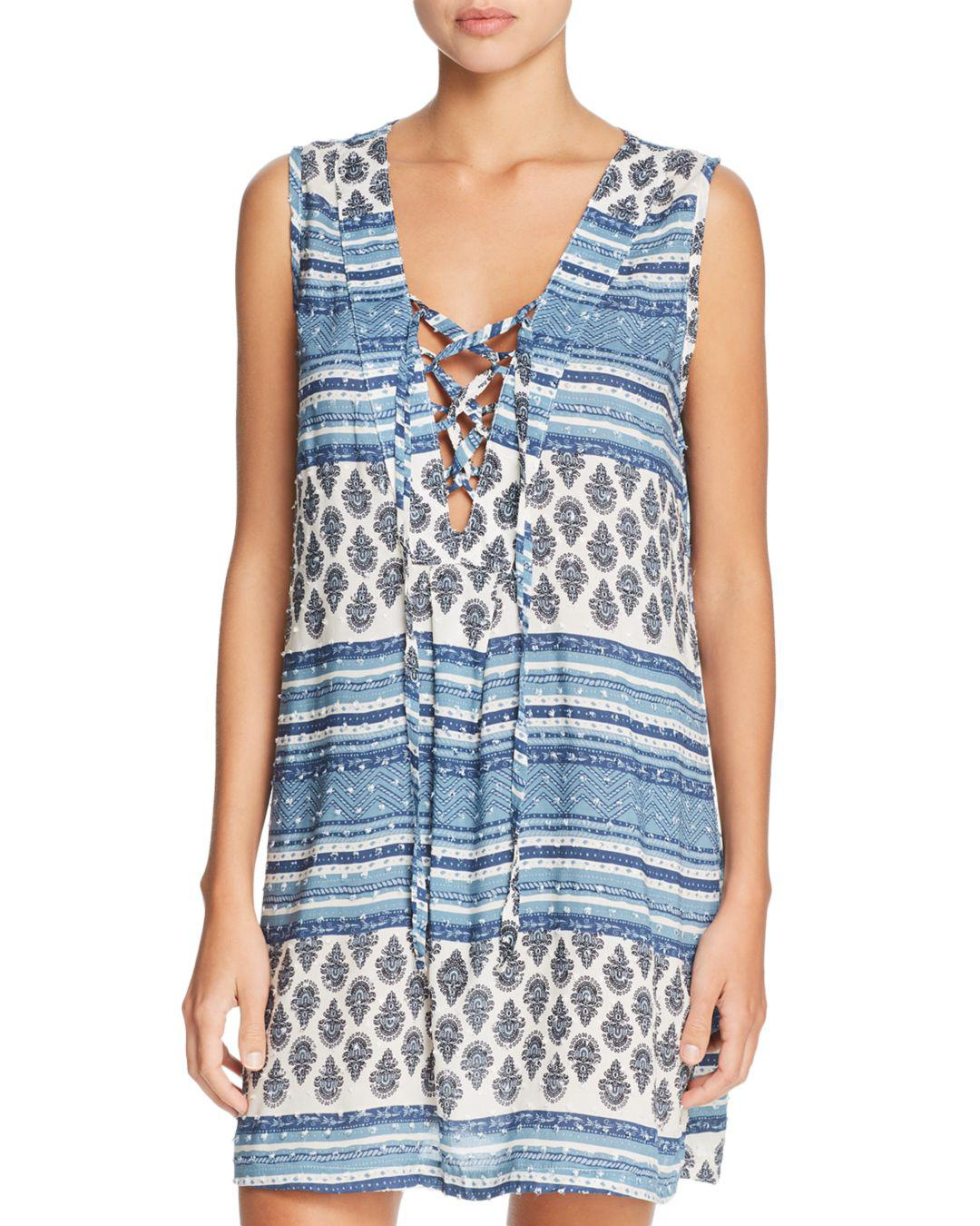 ed8298ad31 J Valdi Topanga Cruise Tank Dress Swim Cover-up in Blue - Lyst