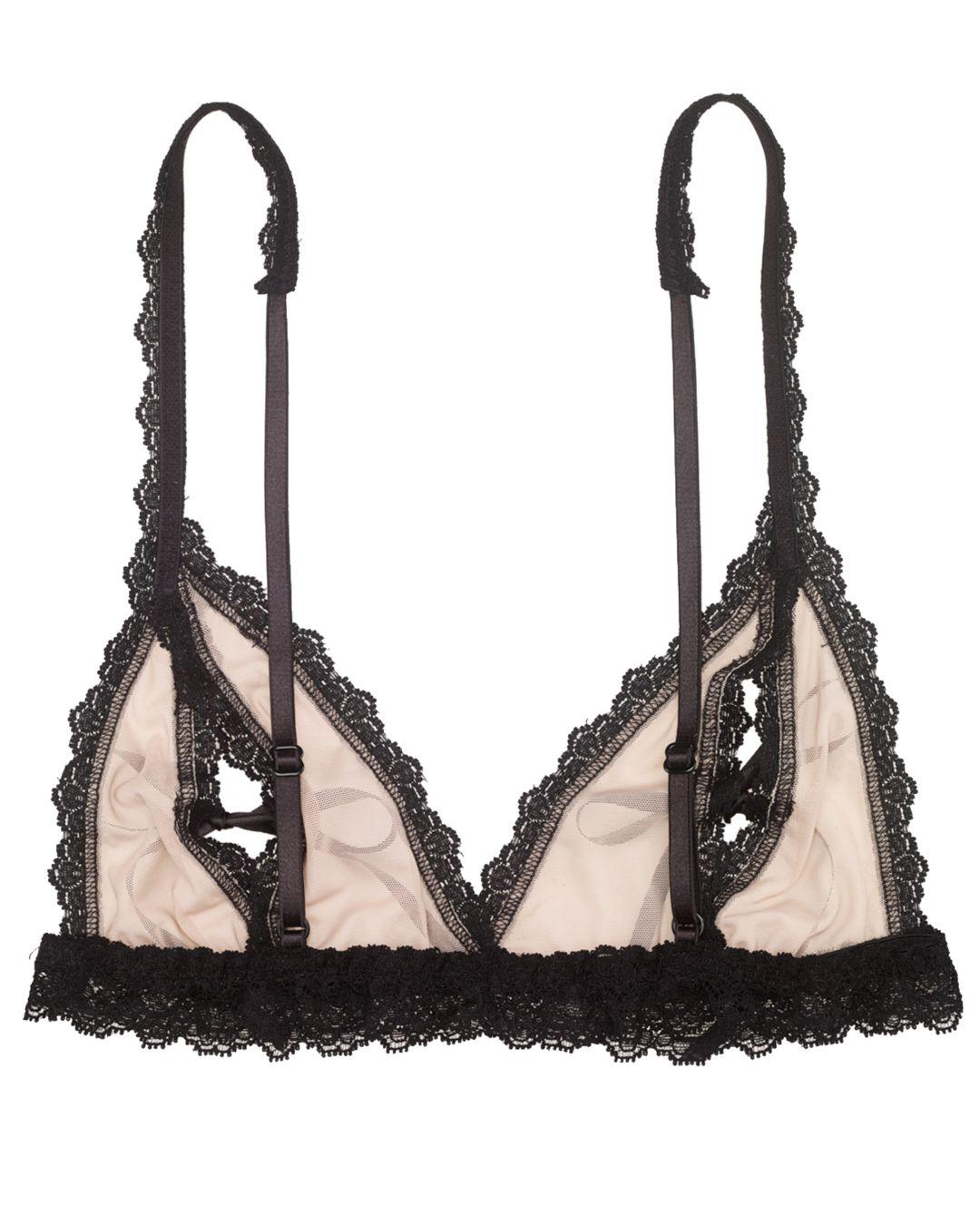 0e7570ece46ad Lyst - Hanky Panky After Midnight Stretch Tulle Peek-a-boo Bralette in  Black - Save 23%