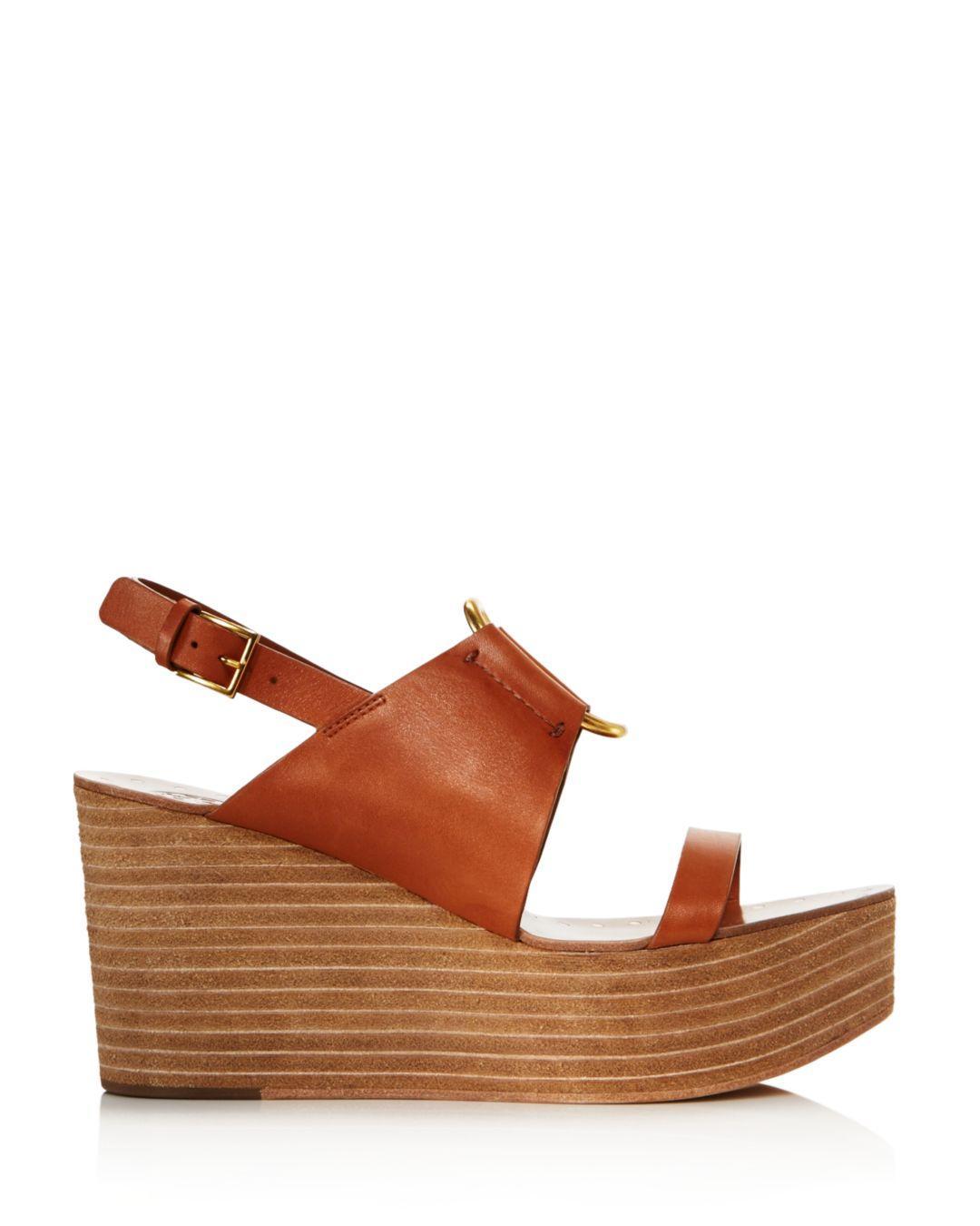 cbb9f59f4 Tory Burch Women's Ravello Platform Sandals in Brown - Lyst