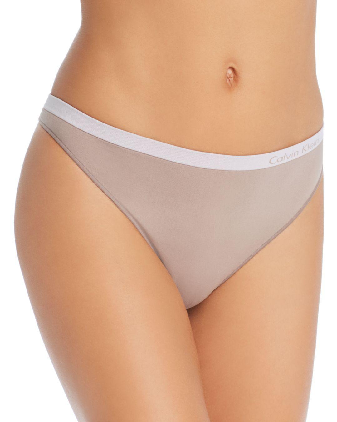 31b1d4110b Lyst - Calvin Klein Pure Seamless Thong