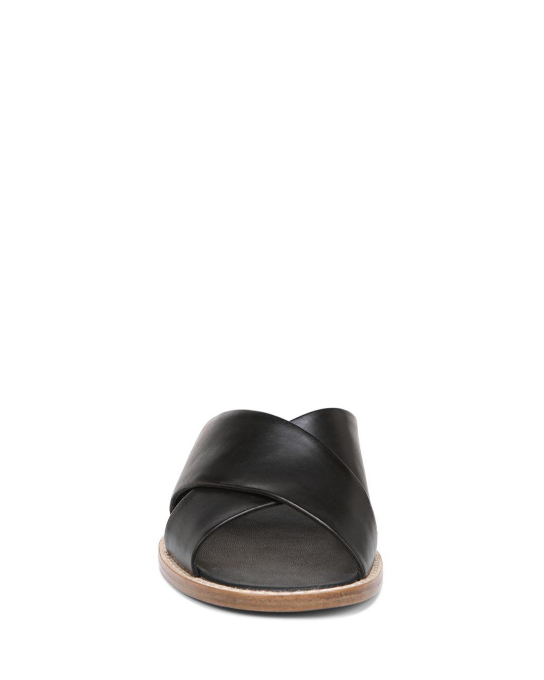 ad808ffffab Lyst - Vince Fairley Leather Wedge Sandals in Black - Save 41%