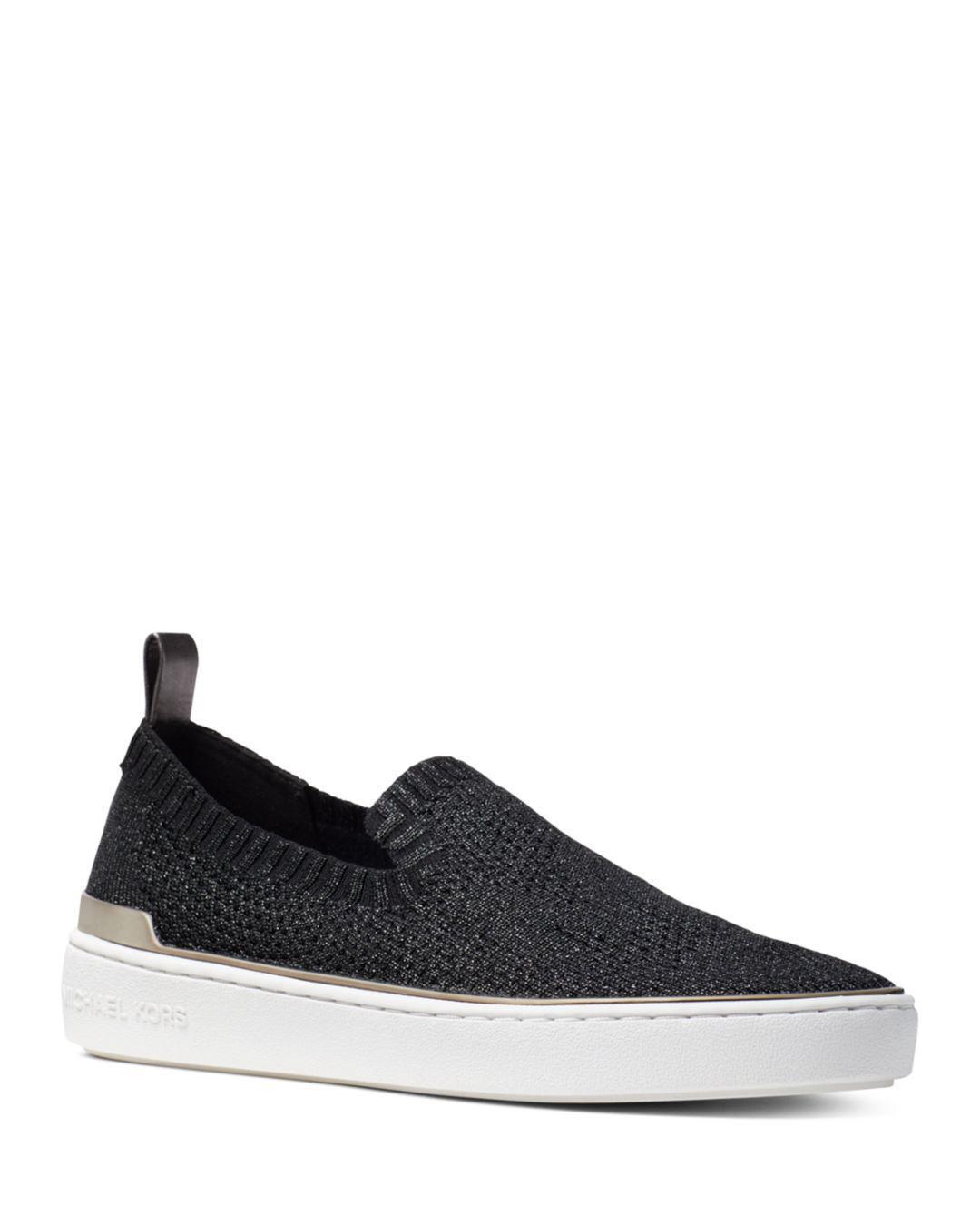 6d1cce2a3dc5 Lyst - MICHAEL Michael Kors Women s Skyler Knit Slip-on Sneakers in ...