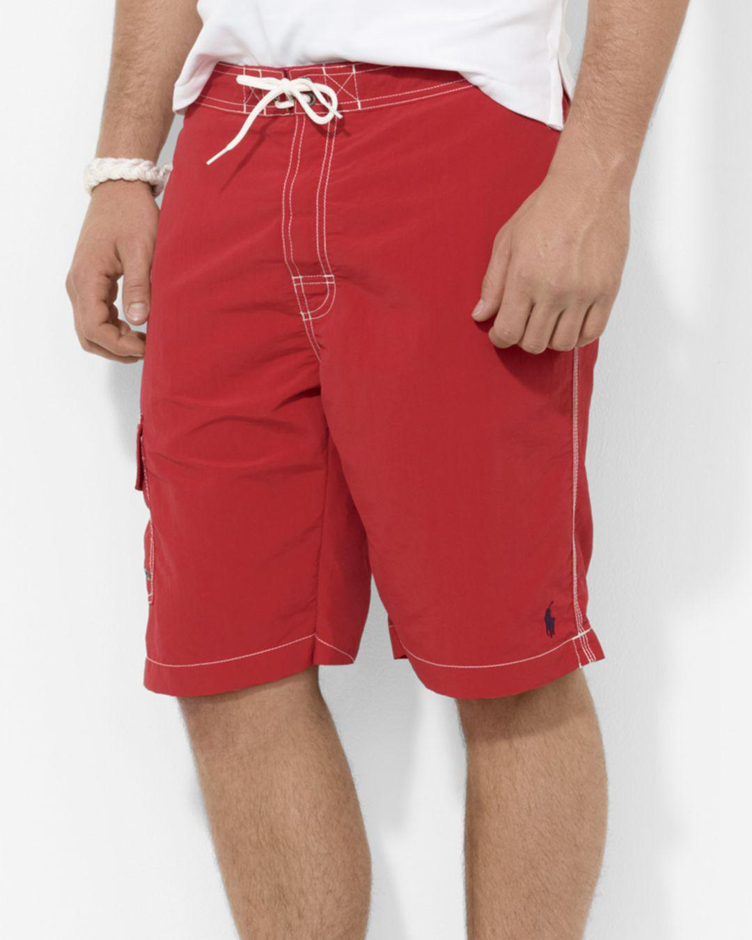b0a474537 Polo Ralph Lauren Kailua Swim Trunks in Red for Men - Lyst