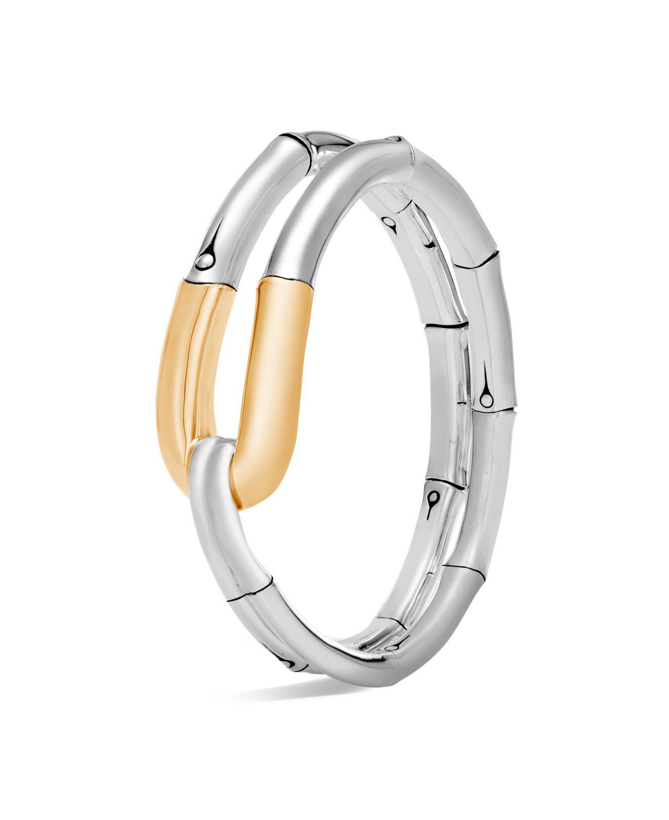 John Hardy Two-Tone Bamboo Flex Cuff Bracelet 5h05NVx1K