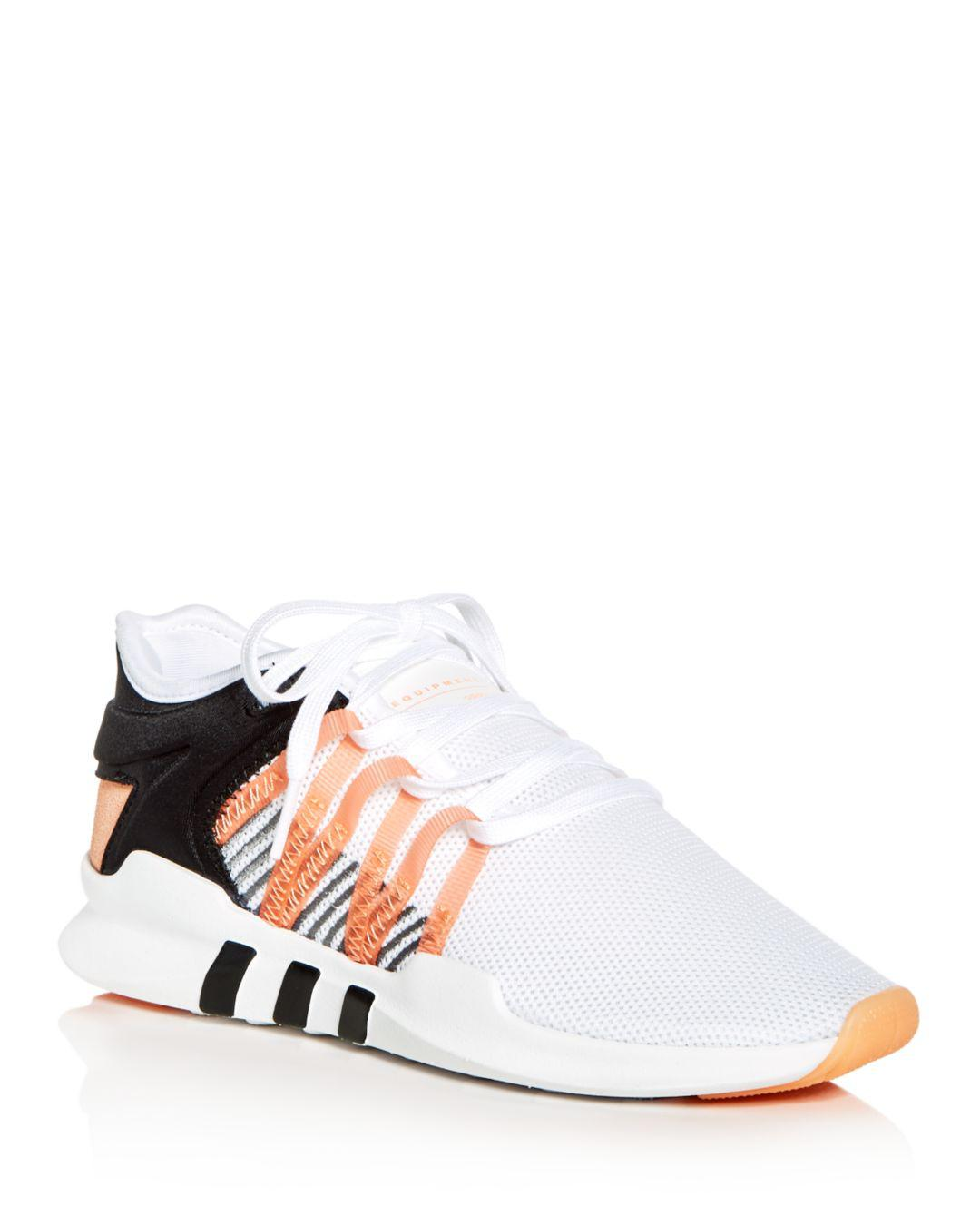 f72e4f7baba4 Lyst - adidas Women s Eqt Racing Advantage Lace Up Sneakers in White