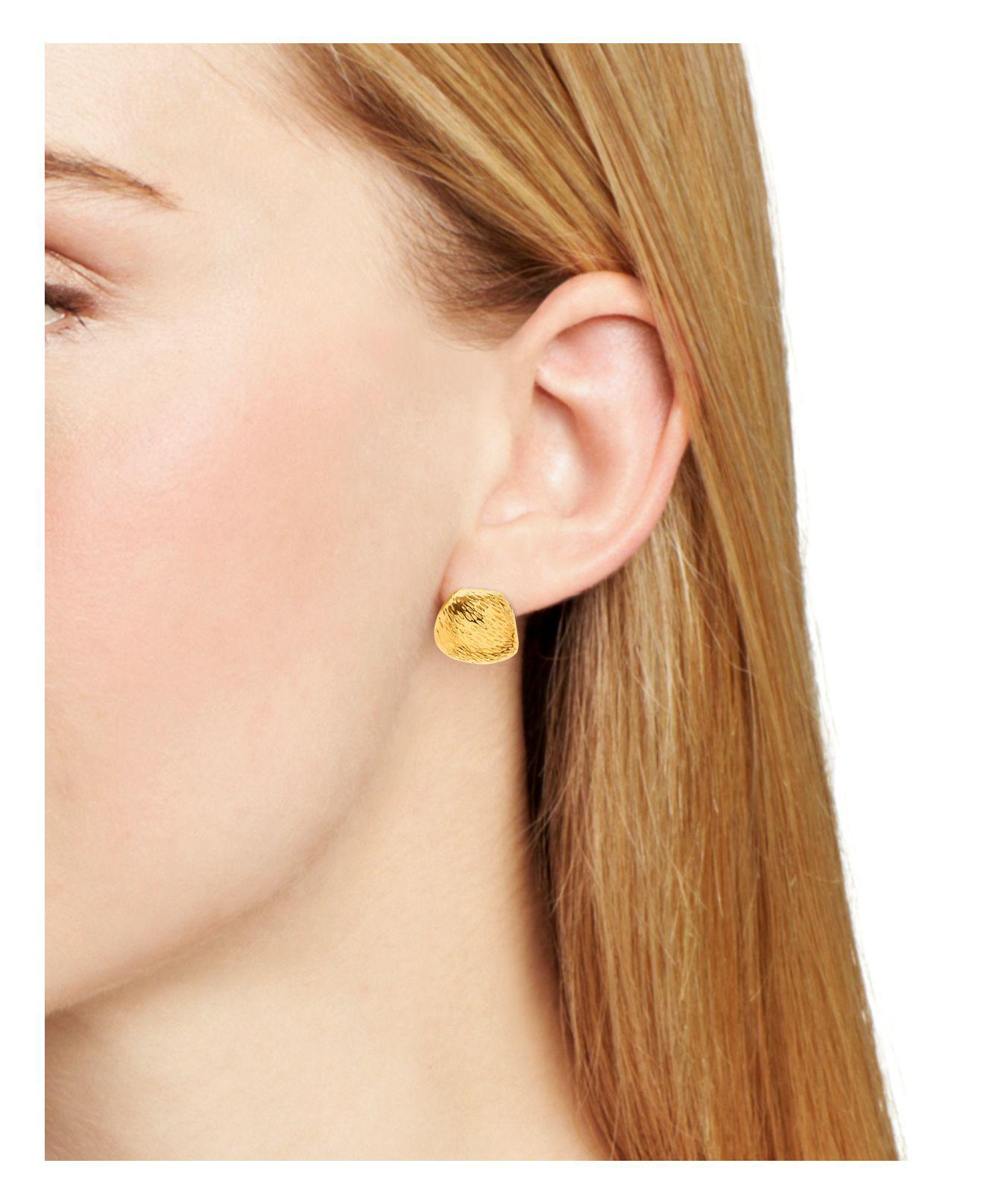 Gorjana Metallic Rae Textured Huggie Hoop Earrings Lyst View Fullscreen