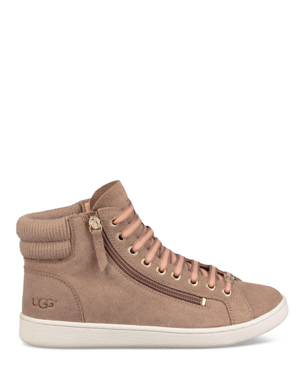 36108738734 Lyst - UGG Women's Olive Leather High Top Sneakers in Brown - Save 53%