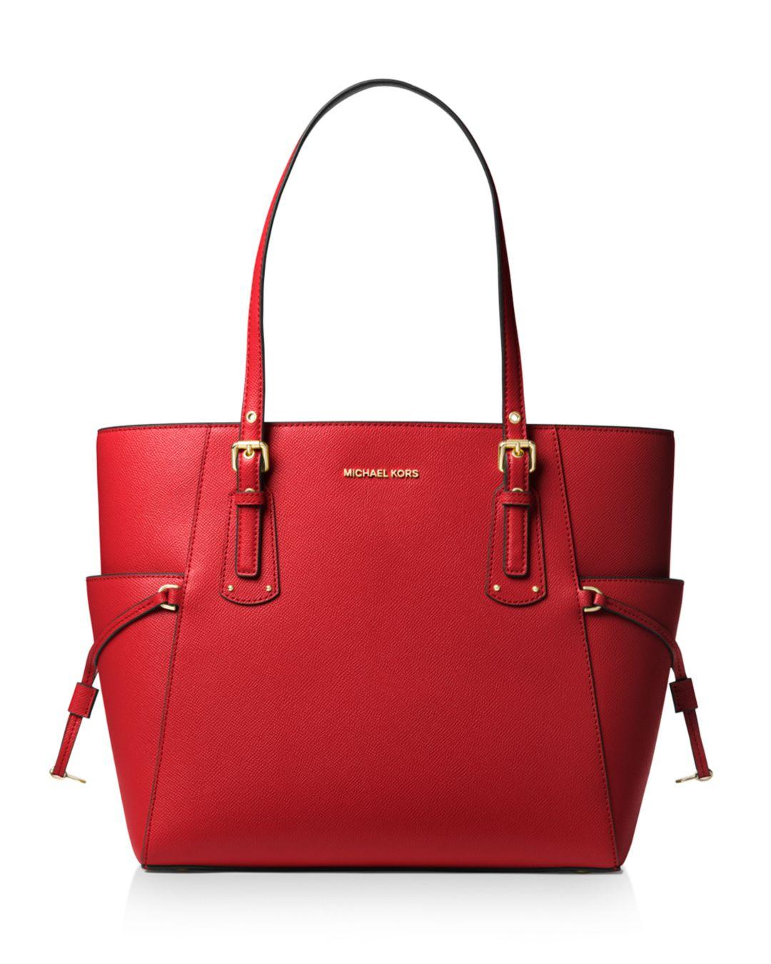 de0db110b4738b MICHAEL Michael Kors Voyager East West Leather Tote in Red - Lyst