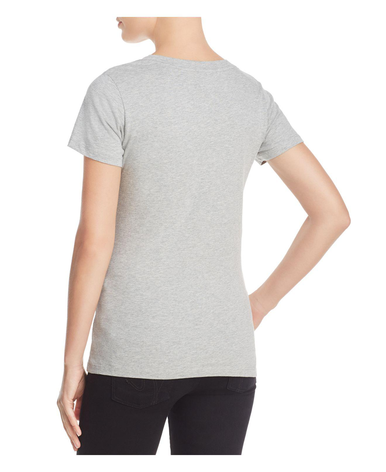 f6073597b6e French Connection Wink Graphic Tee in Gray - Lyst