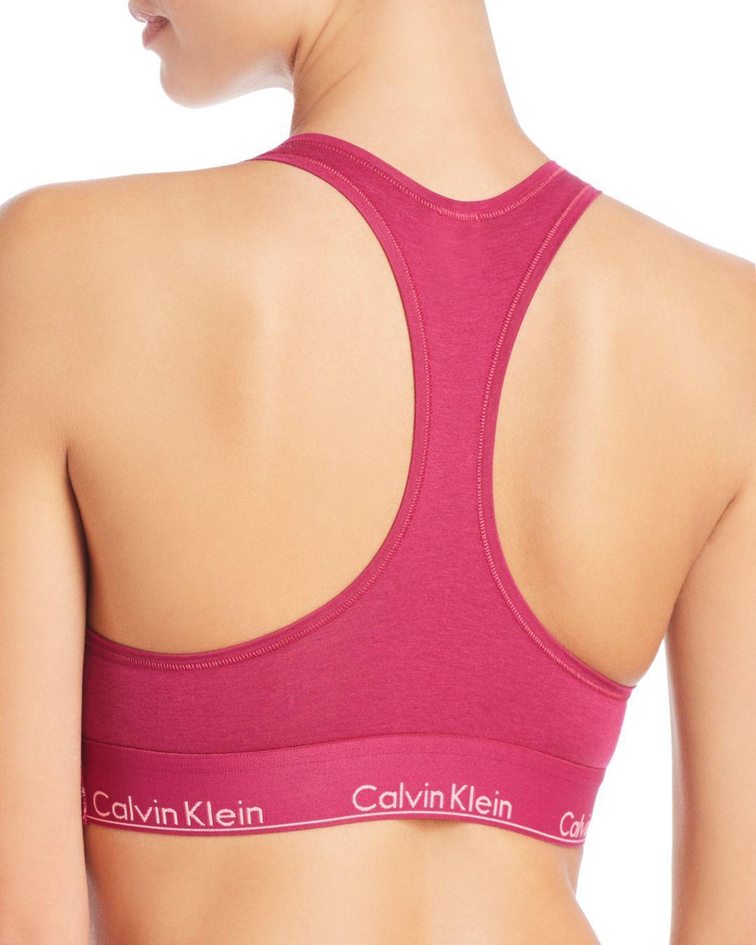 25faf73a55dbe Lyst - Calvin Klein Modern Cotton Bralette in Pink