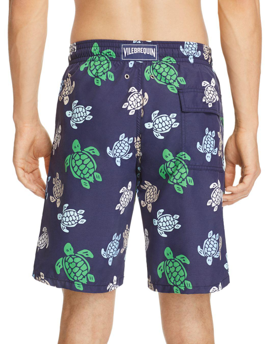 7256ca2127 Vilebrequin Okua Multicolored Turtle-print Swim Trunks in Blue for Men -  Lyst
